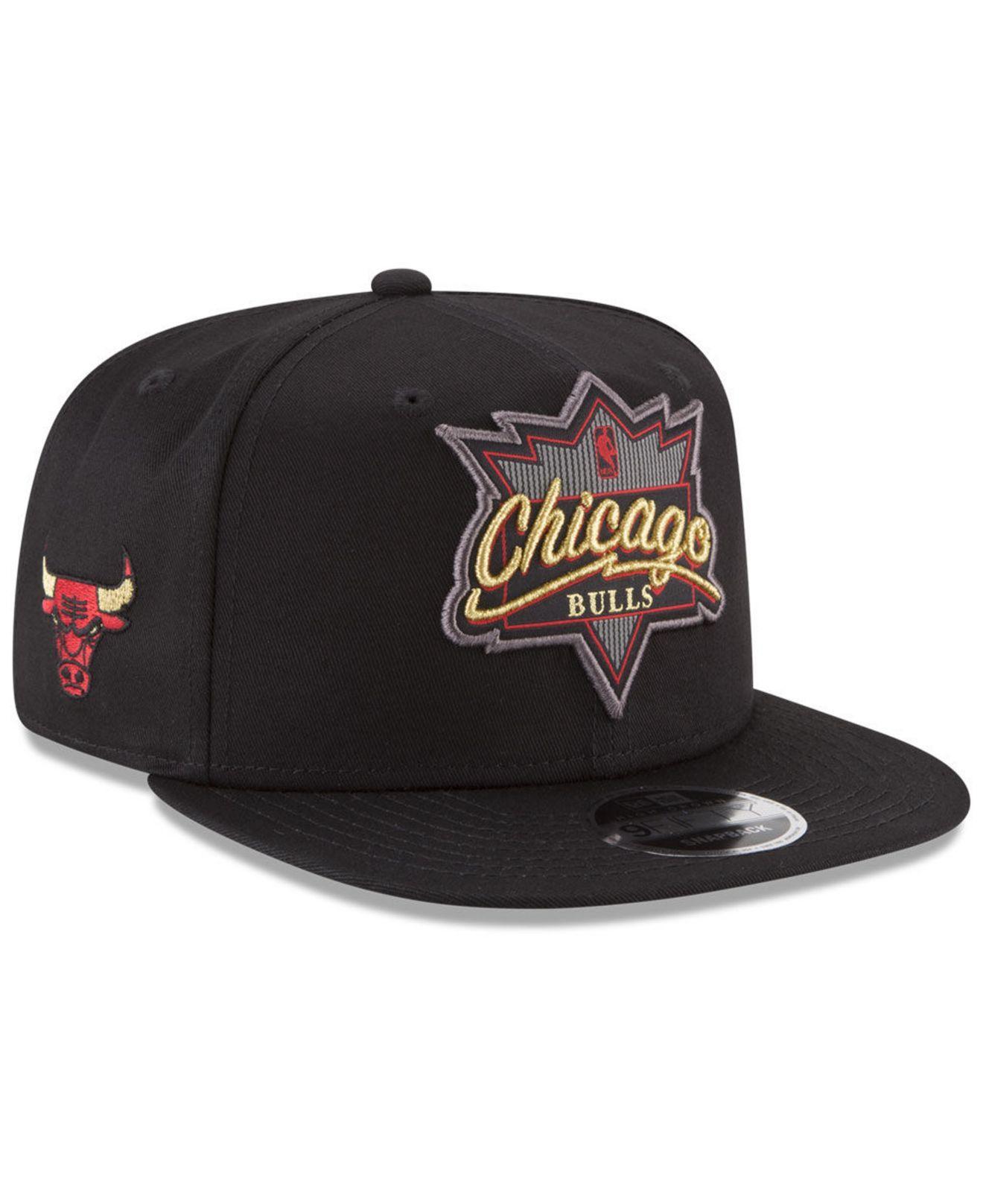 factory price b5091 46b11 ... coupon code ktz. mens black chicago bulls retro showtime 9fifty snapback  cap 05a2f b6f50