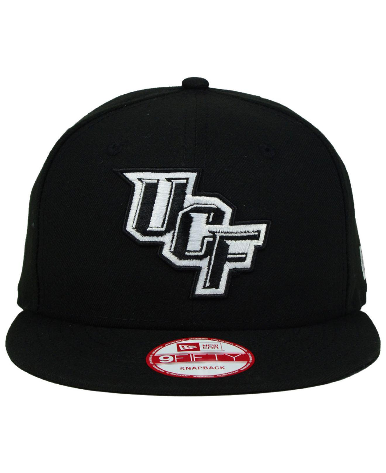 37cb30d671a ... switzerland lyst ktz ucf knights black white 9fifty snapback cap in  black for men c539e b83b7