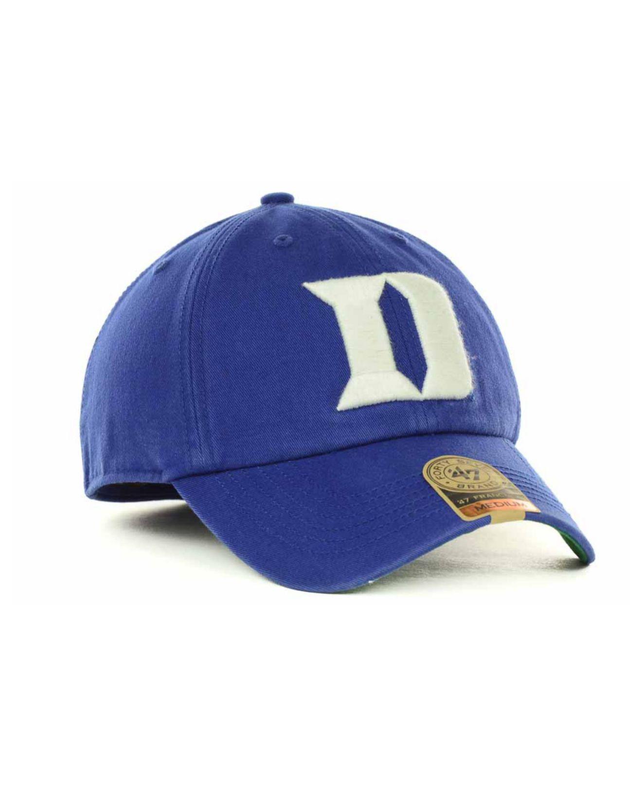quality design 3d9d0 fbf45 ... cheap lyst 47 brand duke blue devils franchise cap in blue for men  dd5e3 2c1fe