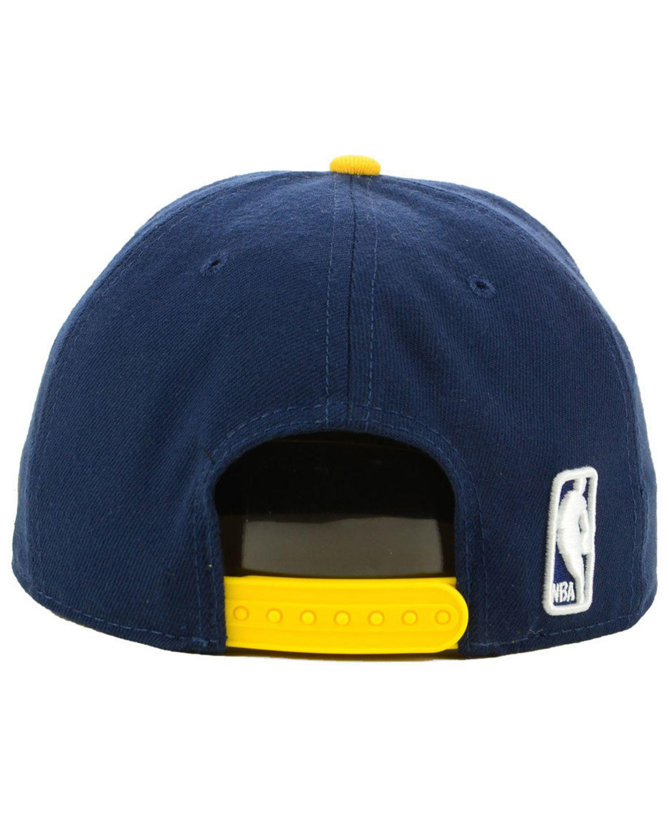aeb7d137979d25 promo code lyst ktz indiana pacers basic 2 tone 9fifty snapback cap in blue  for men