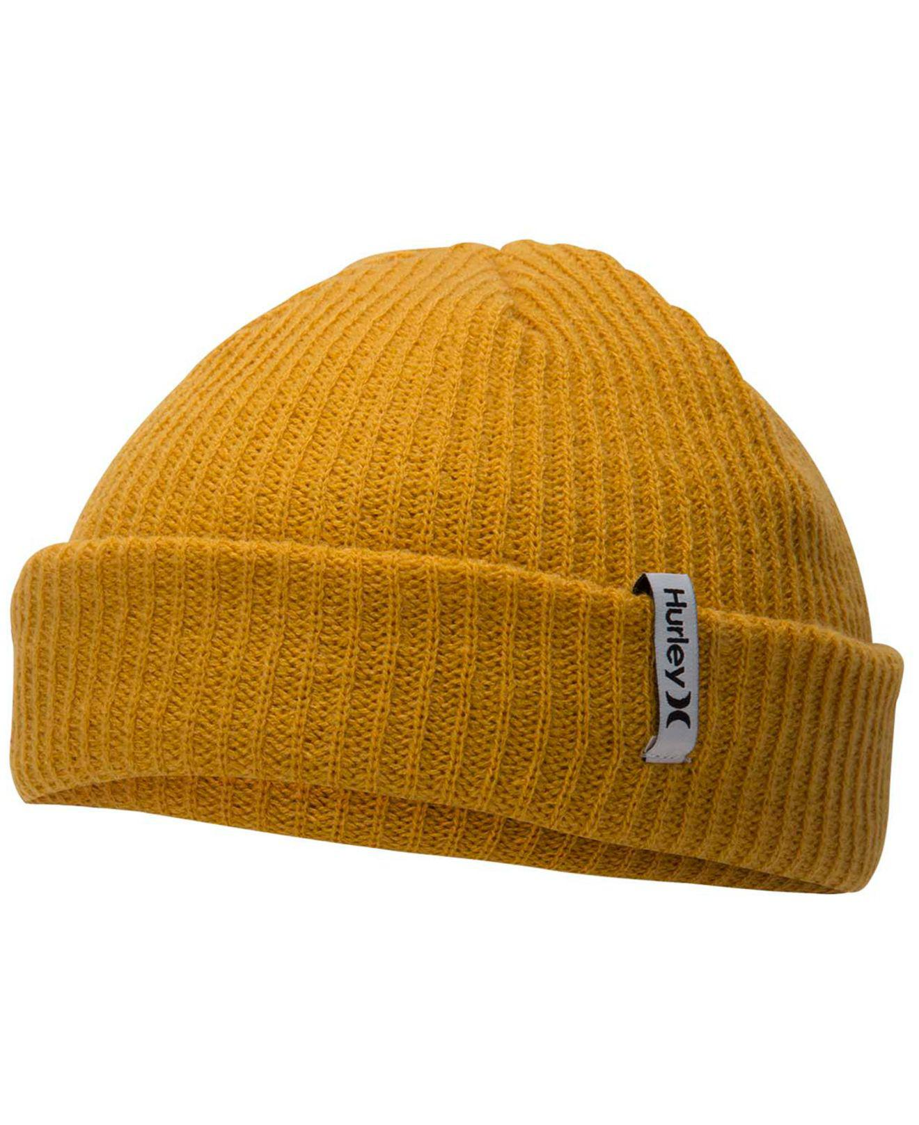 Lyst - Hurley Staple One And Only Beanie in Yellow ff07a385e40f