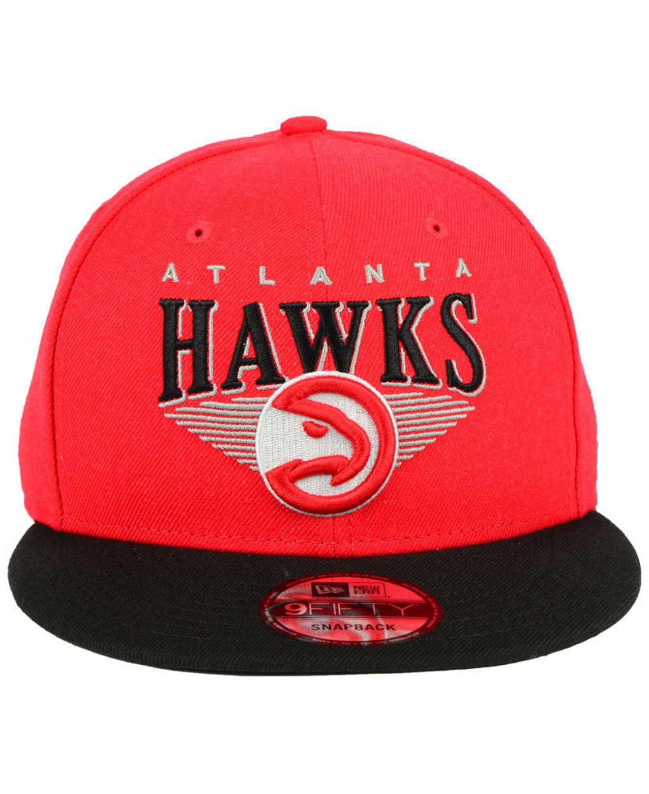 the latest 92a21 aaa65 Lyst - KTZ Atlanta Hawks Retro Triangle 9fifty Snapback Cap in Red for Men