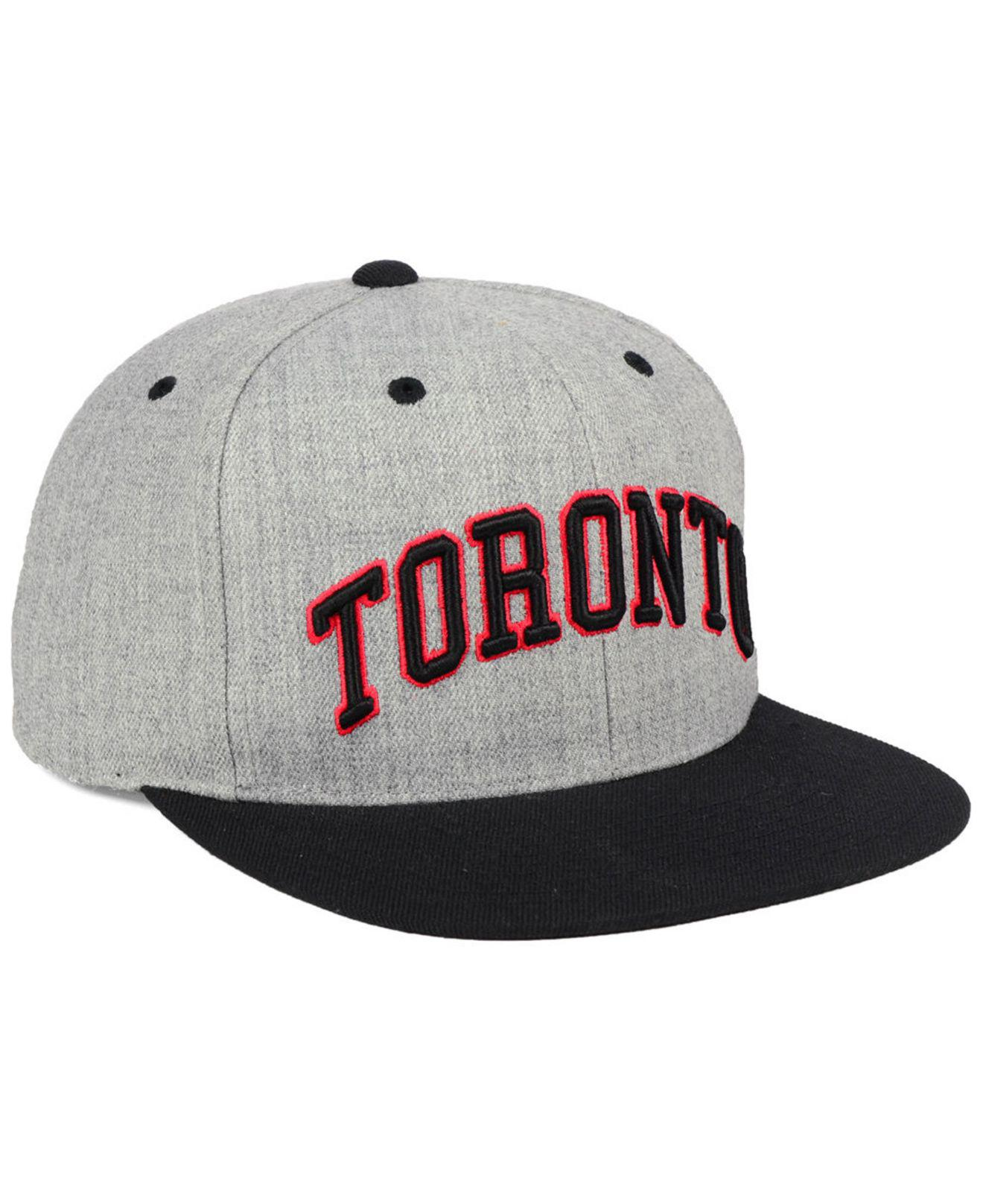 promo code c4698 d77b2 ... promo code for mitchell ness gray toronto raptors side panel cropped  snapback cap for men lyst