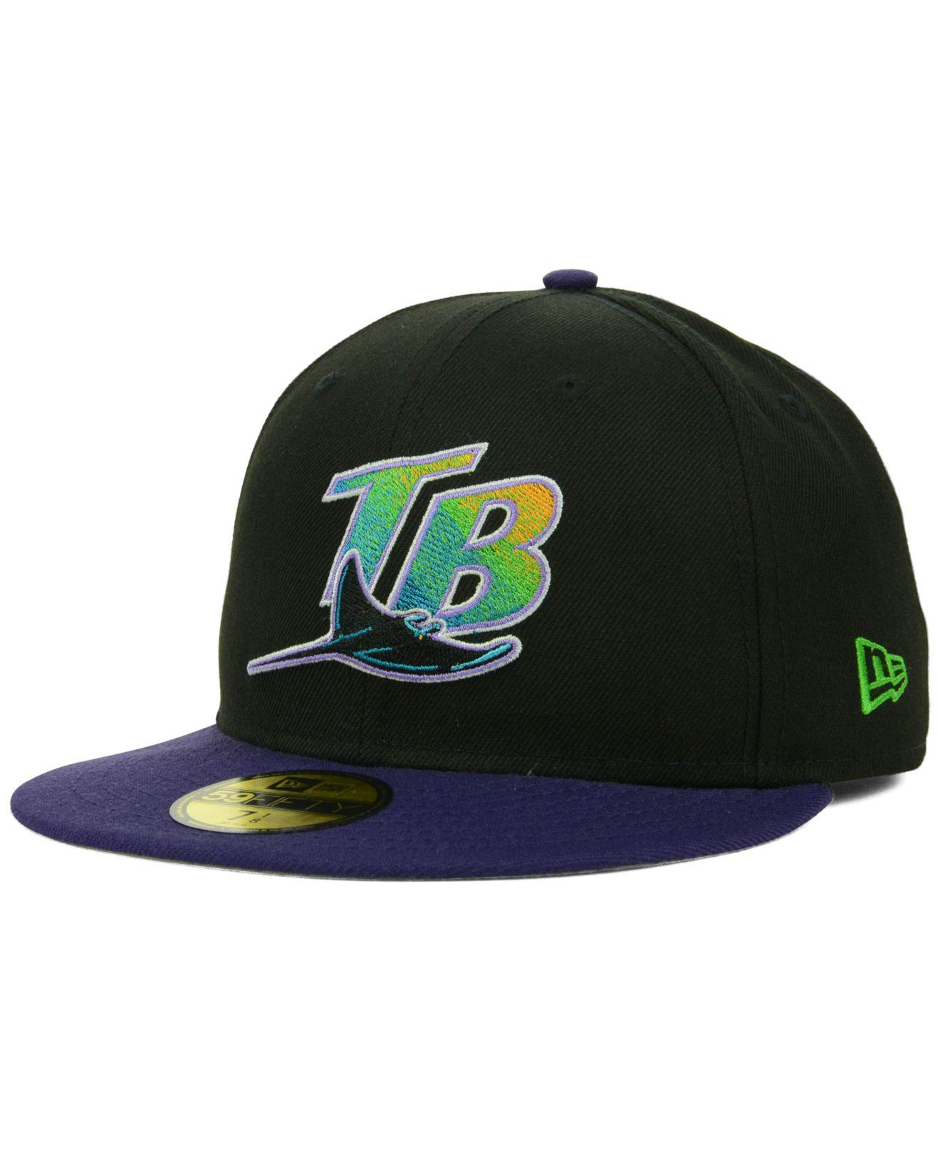 super popular cd846 a1db6 KTZ. Men s Blue Tampa Bay Rays Cooperstown 59fifty Cap