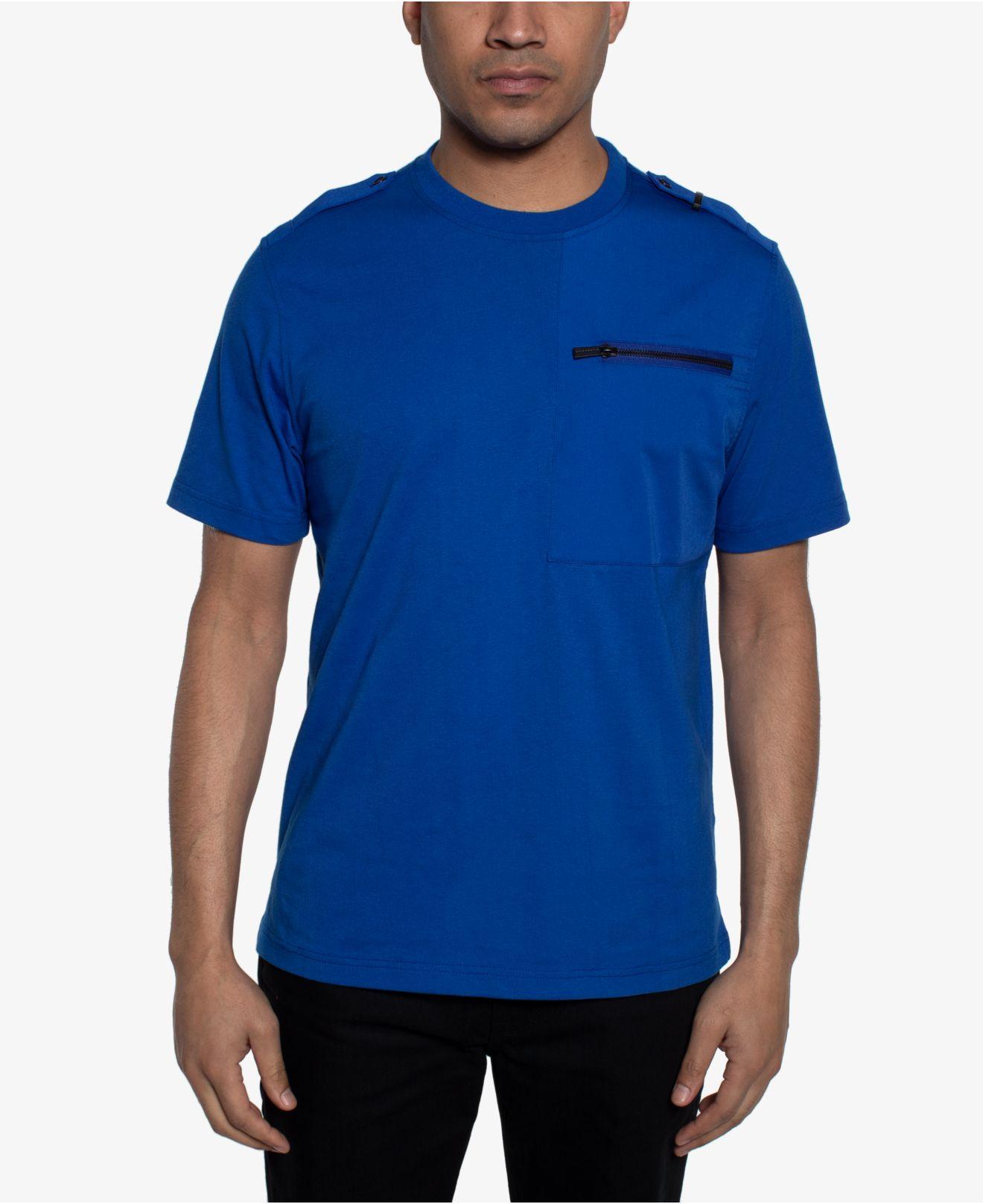 dd07012d4650 Sean John. Men s Blue Zip-pocket Flight T-shirt ...