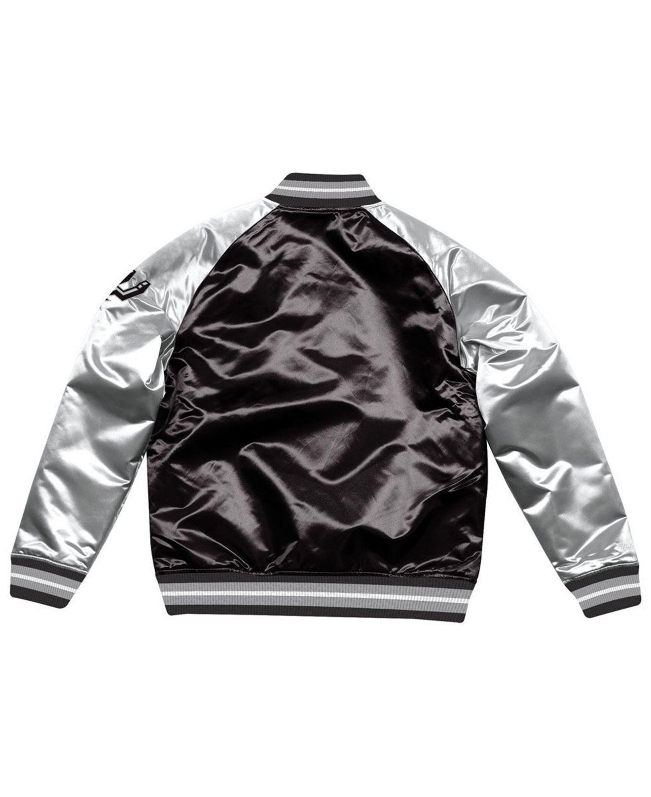 Lyst - Mitchell   Ness San Antonio Spurs Tough Season Satin Jacket in Black  for Men 475b6a968