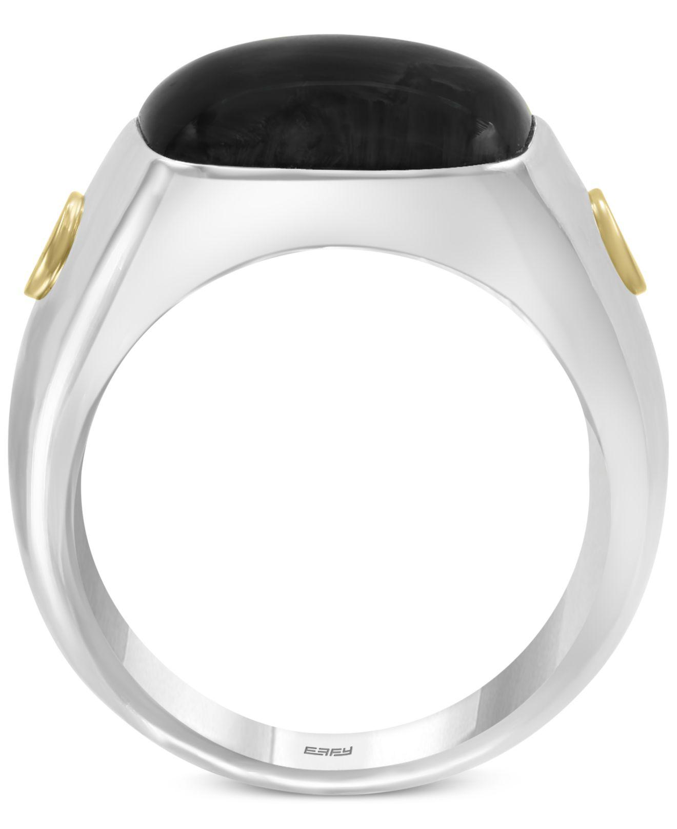 7598d5fb1a0cc Effy Collection Onyx (15mm) Ring In Sterling Silver & 18k Gold in ...