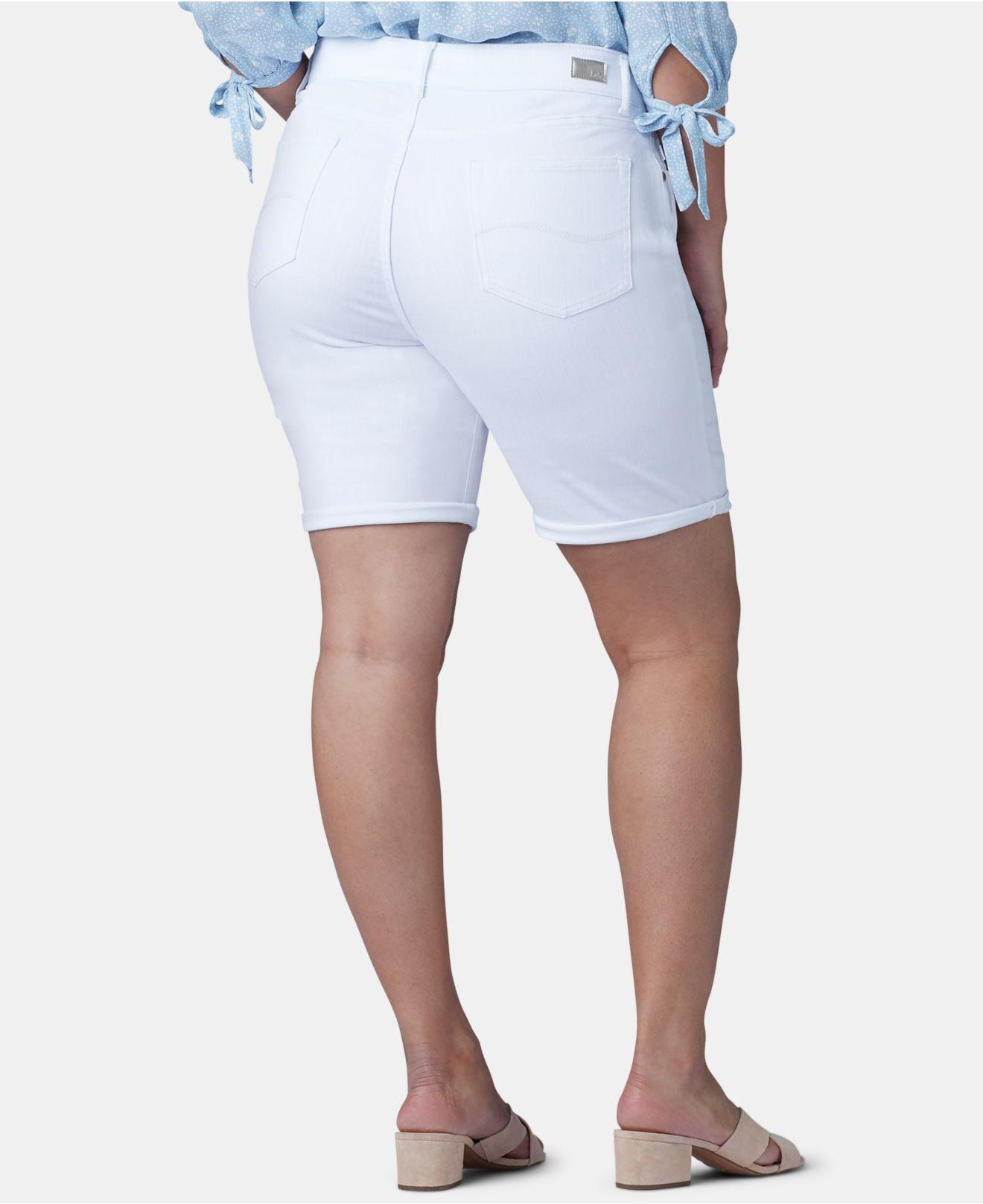 b7cb64026de Lyst - Lee Platinum Plus Size Flex To Go Bermuda Shorts in White
