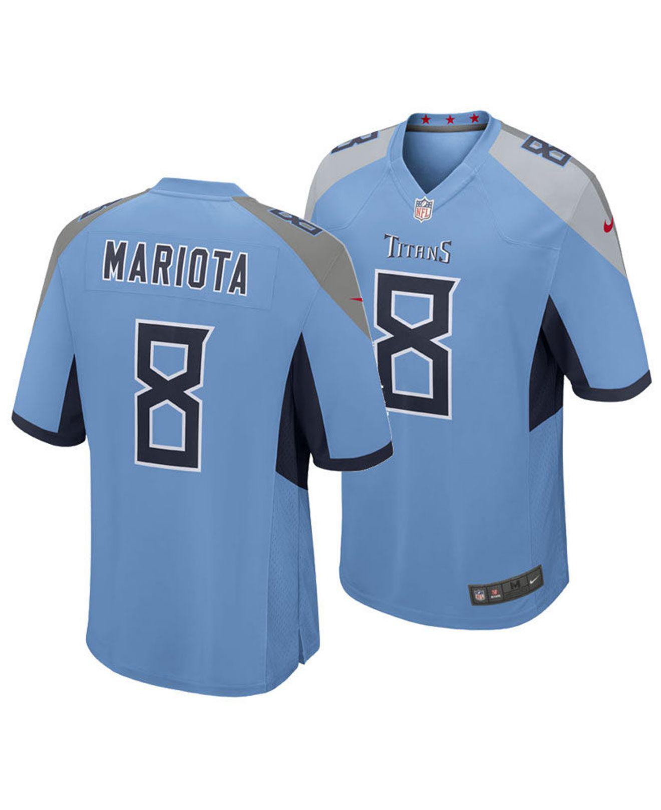 d7107de7 Lyst - Nike Marcus Mariota Tennessee Titans Game Jersey in Blue for Men