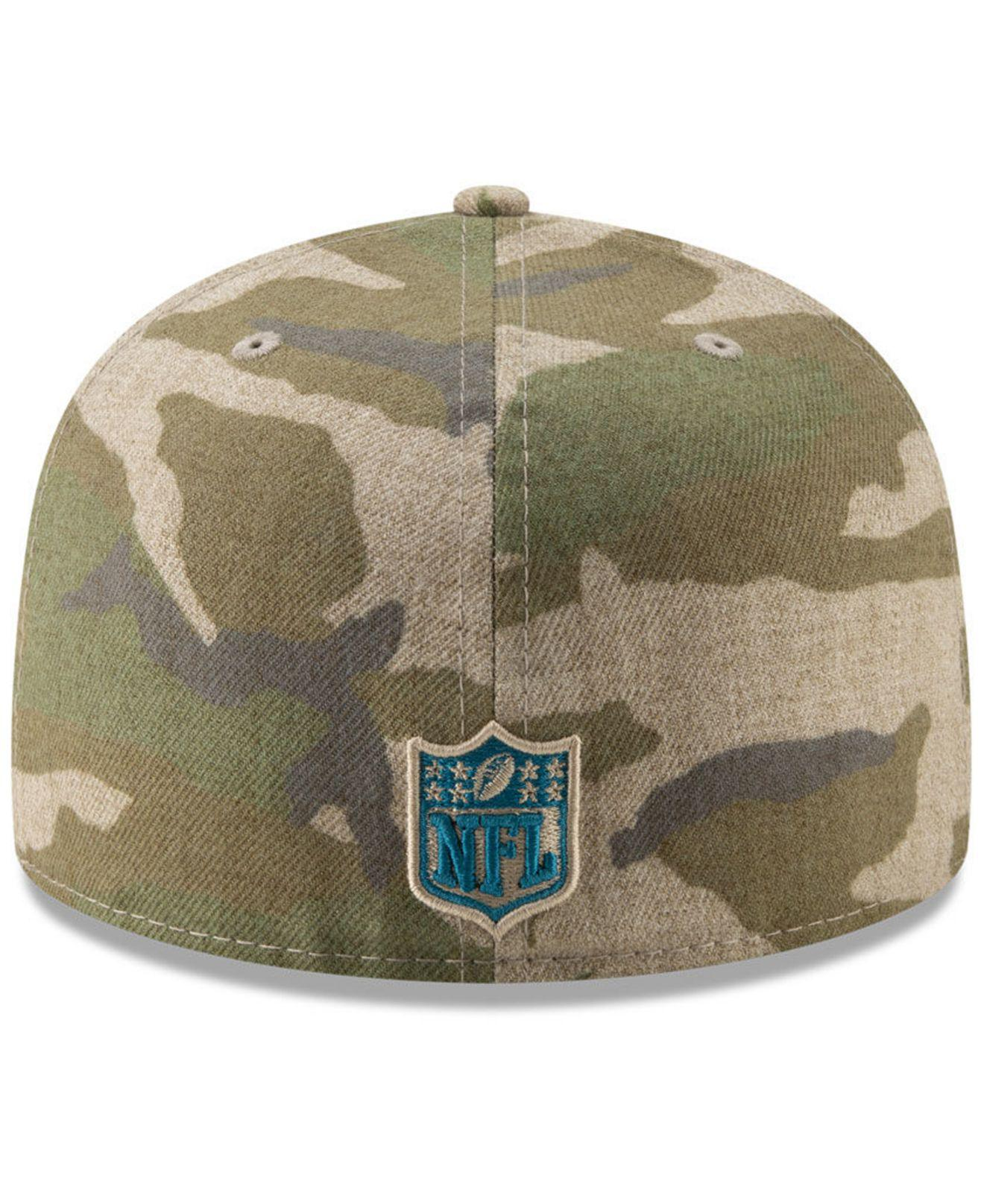 sale retailer bede6 0c6ef Lyst - KTZ Carolina Panthers Vintage Camo 59fifty Fitted Cap in Green for  Men