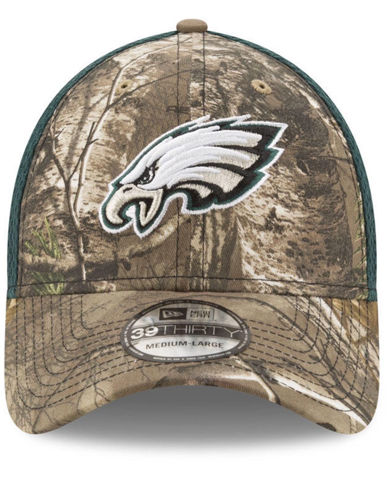half off 33b26 36e7f Lyst - Ktz Philadelphia Eagles Realtree Camo Team Color Neo 39thirty Cap in  Green for Men