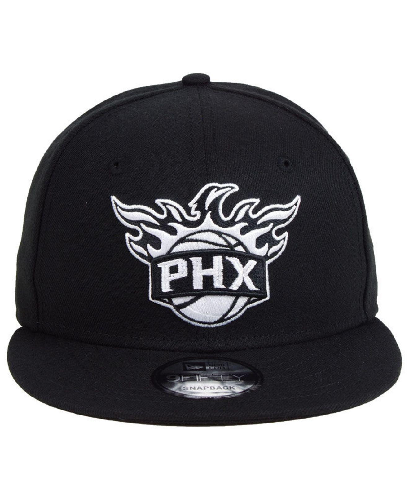 sports shoes 963a8 0b3b0 ... czech lyst ktz phoenix suns black white 9fifty snapback cap in black  for men 830bb 3985e