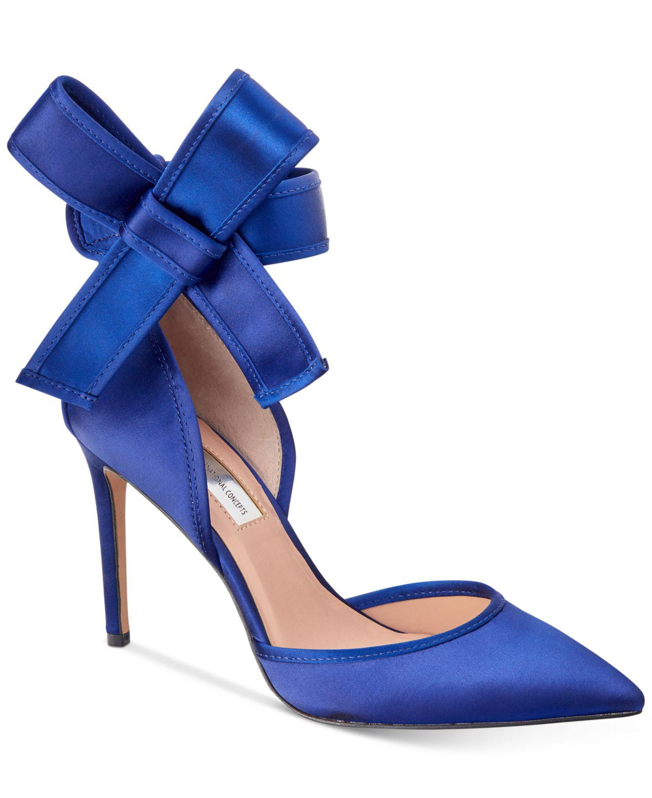 cbeb367a9 INC International Concepts Kaiaa Bow Pumps in Blue - Lyst