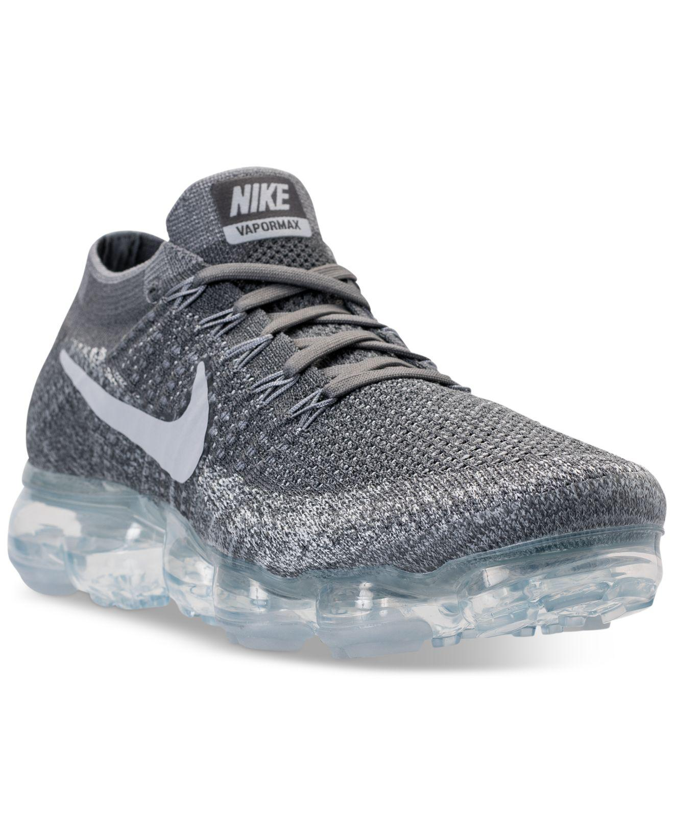 6ee7935f9d123 Lyst - Nike Men s Air Vapormax Flyknit Running Sneakers From Finish ...