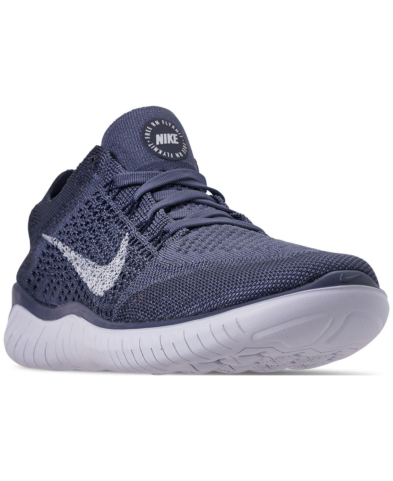Nike. Men s Blue Free Rn Flyknit 2018 Running Sneakers From Finish Line 1c57163f6