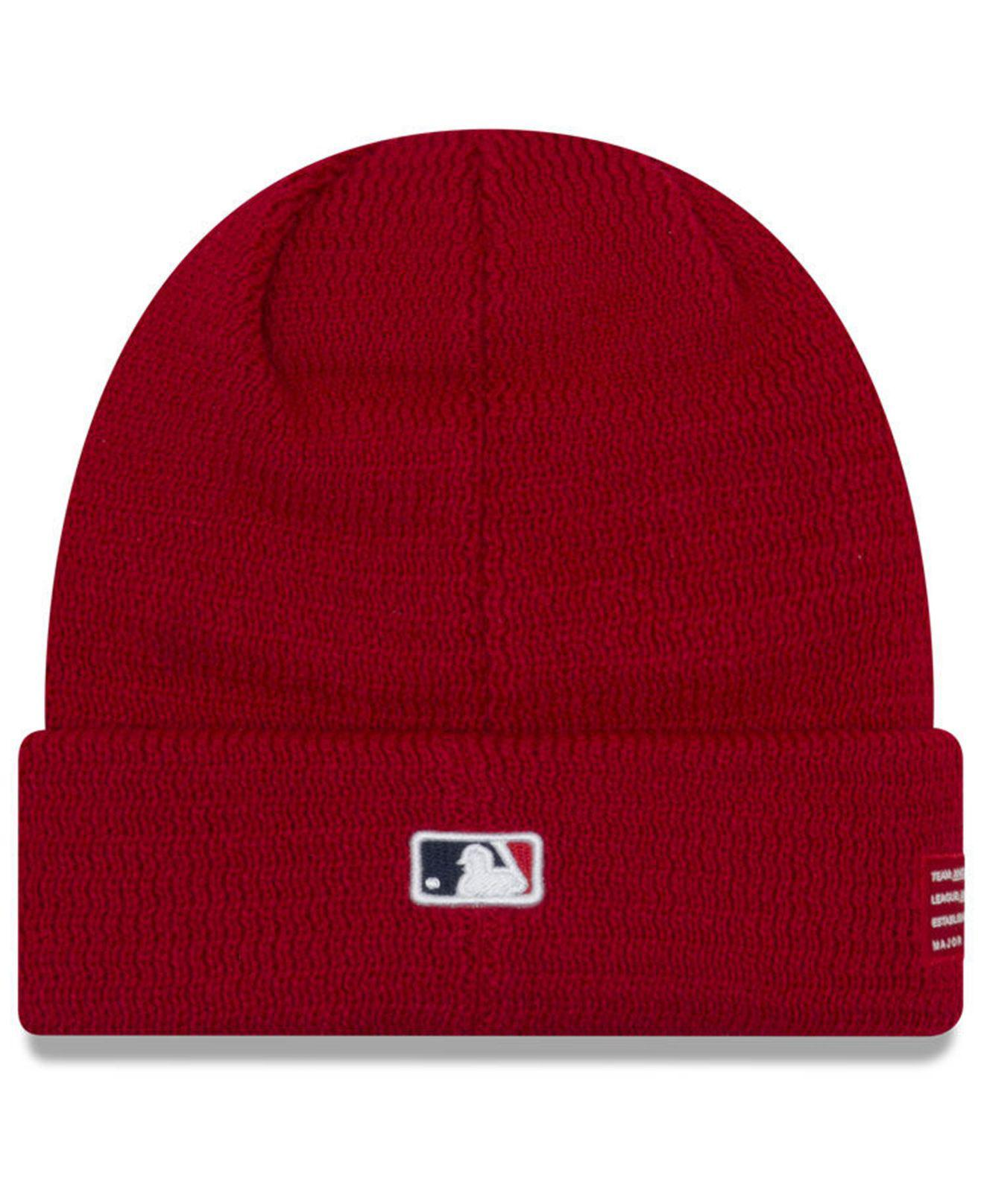 wholesale dealer 095f2 7160a ... italy lyst ktz los angeles angels sport knit hat in red for men 2394e  23077