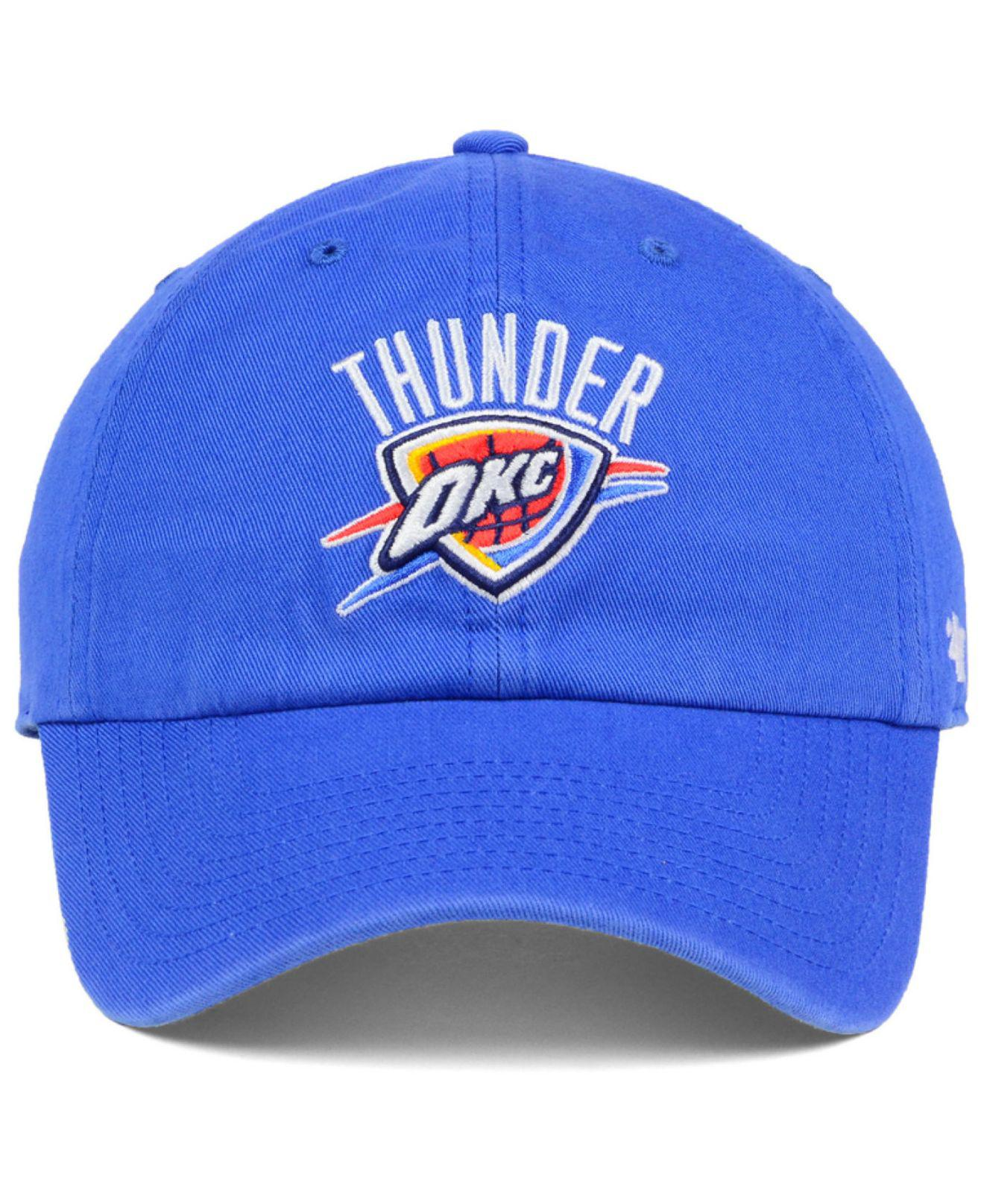 the best attitude 184b7 15142 Lyst - 47 Brand Oklahoma City Thunder Clean Up Cap in Blue for Men