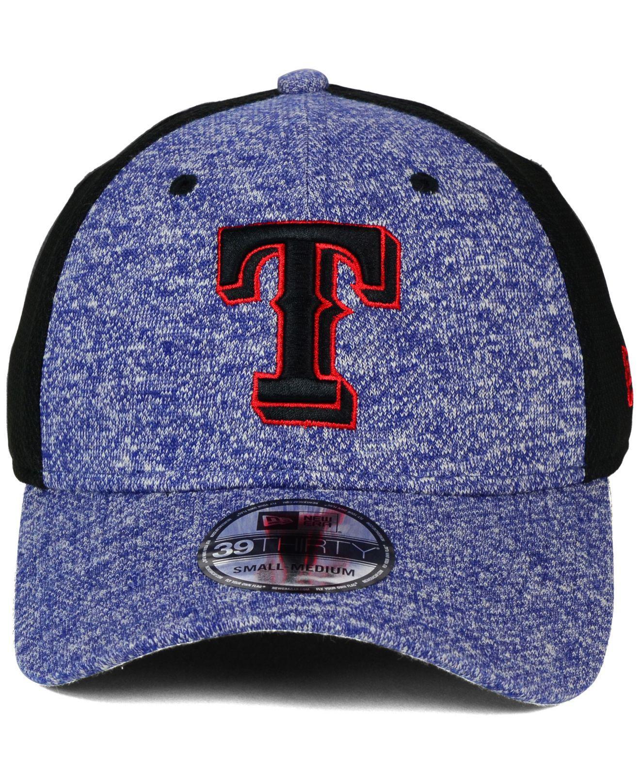 newest 6dff3 181ac ... discount lyst ktz texas rangers tech fuse 39thirty cap in blue for men  9cf81 ec260