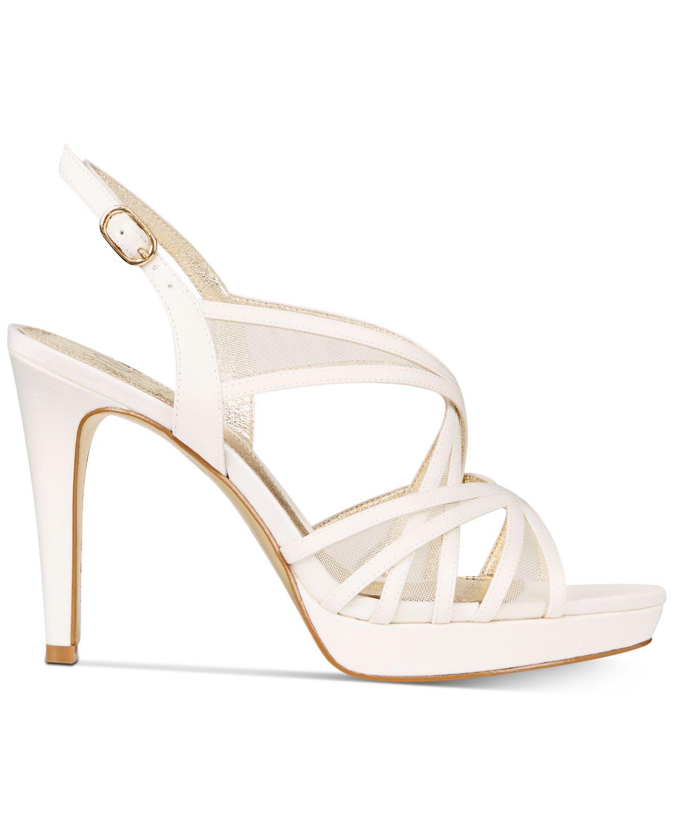 38126d586ff1 Lyst - Adrianna Papell Adri Platform Strappy Sandals in White