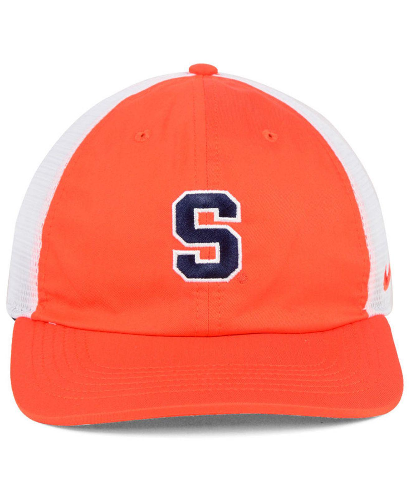more photos 1df74 b0852 ... best price lyst nike syracuse orange h86 trucker snapback cap in orange  for men 2caa1 f1704