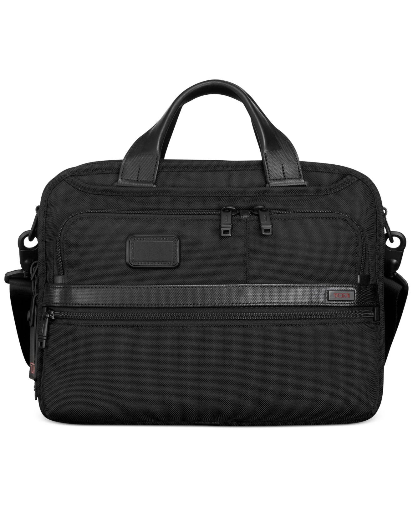 ba22ad691d72 Lyst - Tumi Alpha Small Screen Expandable Laptop Briefcase in Black ...