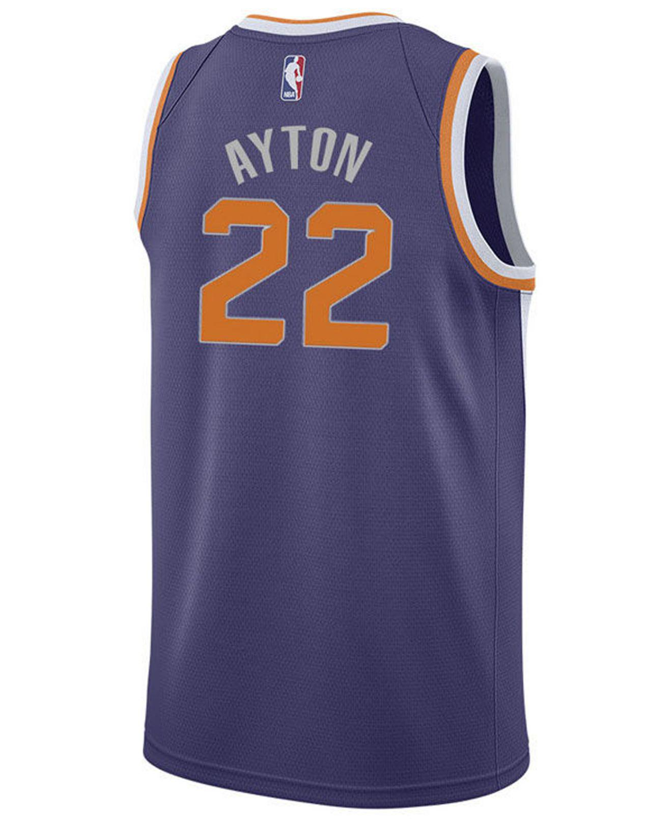 47660273a Lyst - Nike Deandre Ayton Phoenix Suns Icon Swingman Jersey in Purple for  Men