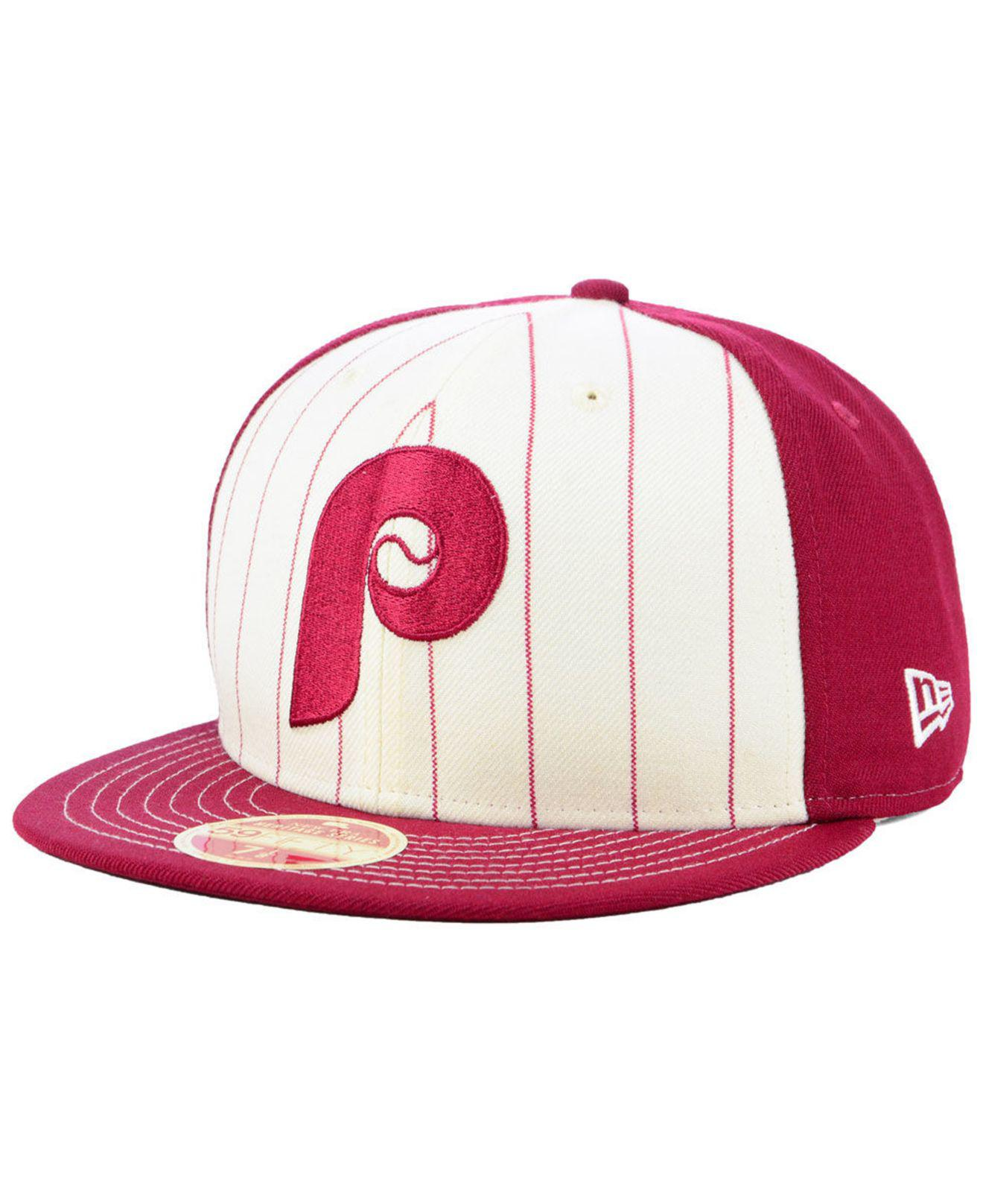 8c585caeb11 Lyst - Ktz Philadelphia Phillies Vintage Front 59fifty Fitted Cap ...