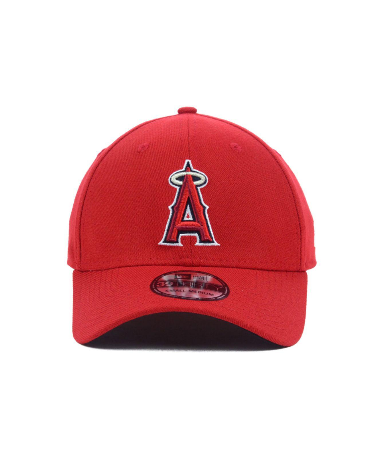 wholesale dealer 11a9f 9ac60 ... netherlands lyst ktz los angeles angels of anaheim mlb team classic  39thirty cap in red for