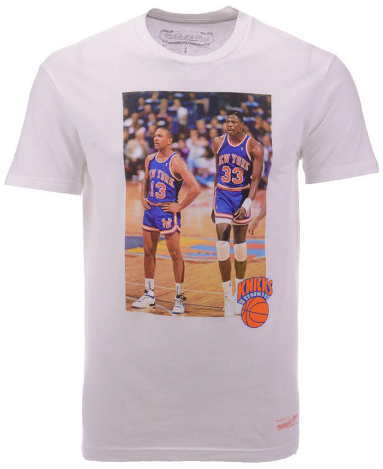 24737383 Mitchell & Ness New York Knicks Photo Real T-shirt in White for Men ...