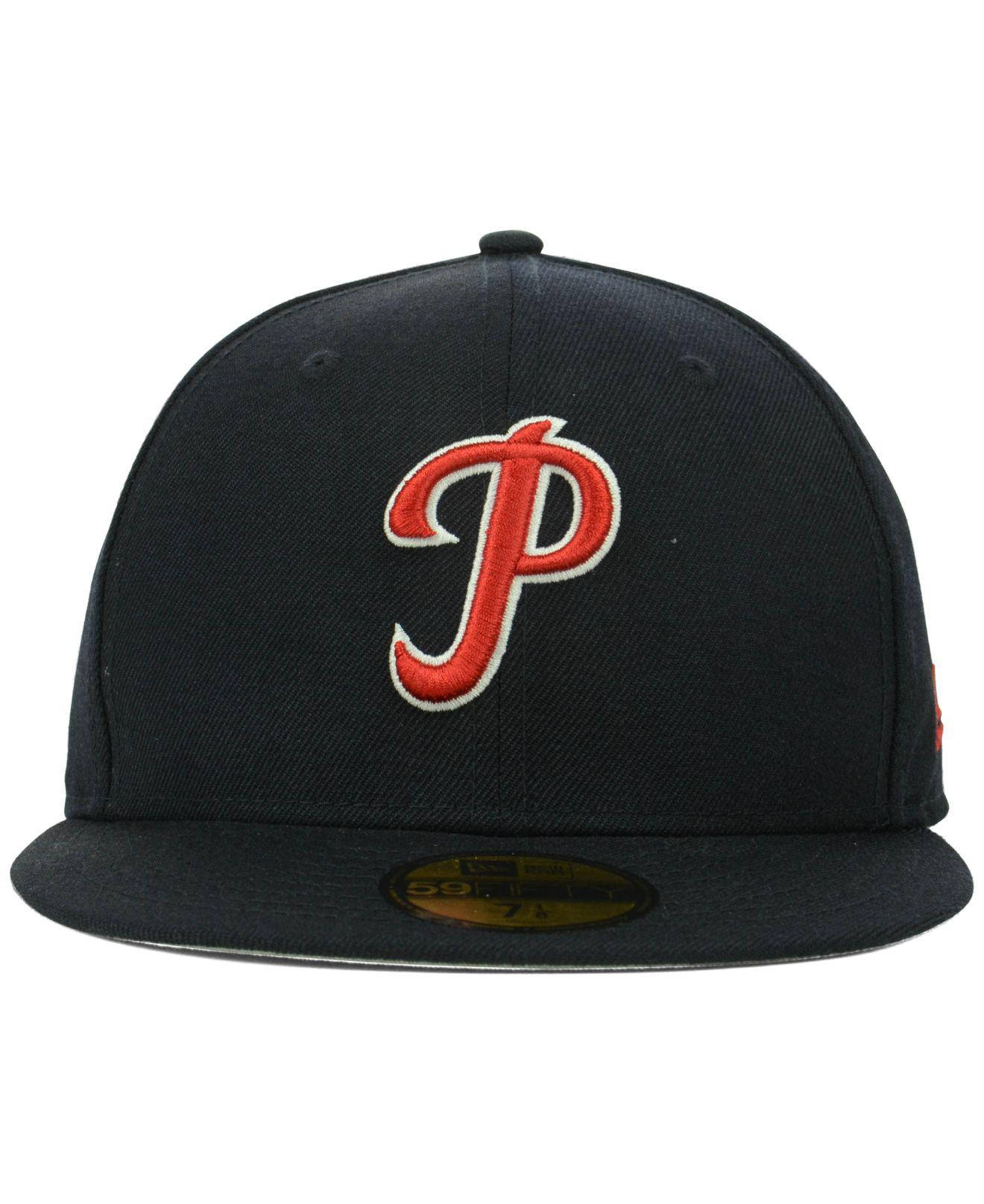 separation shoes 8070a 01c8f ... coupon for lyst ktz philadelphia phillies mlb cooperstown 59fifty cap  in blue for men be75b bac3a