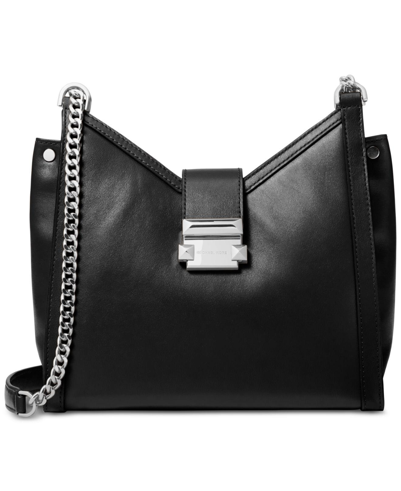 06dcf29b85380 Michael Kors Whitney Small Leather Shoulder Bag in Black - Save 45 ...