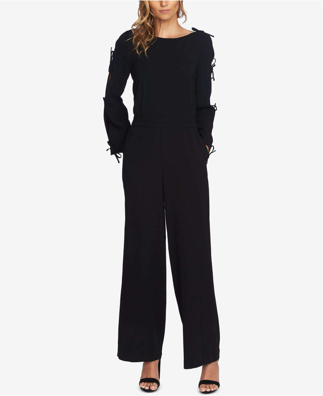 bc064c3a258 Lyst - Cece Bow-sleeve Wide-leg Jumpsuit in Black