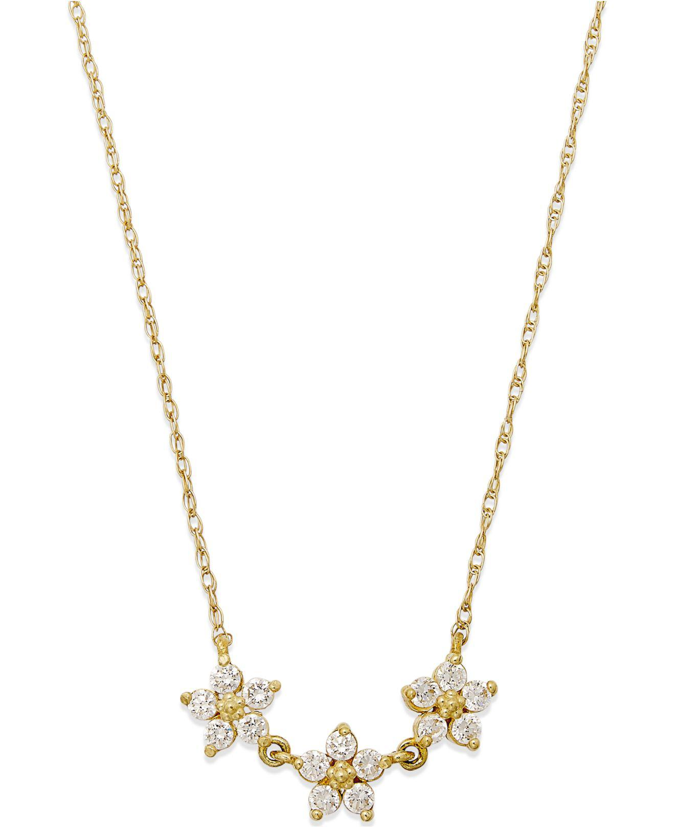 pin cleef yellow flower and gold pendant necklace van sapphire arpels diamond
