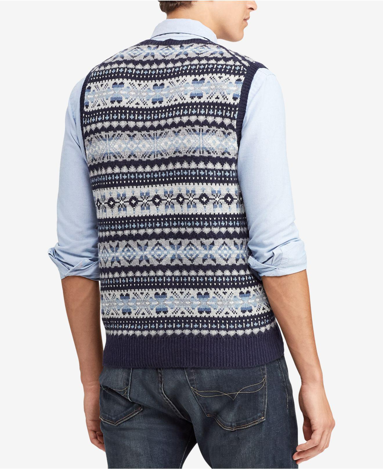 4d5e3be164f00 Lyst polo ralph lauren fair isle sweater vest in blue for men jpg 1320x1616 Fair  isle