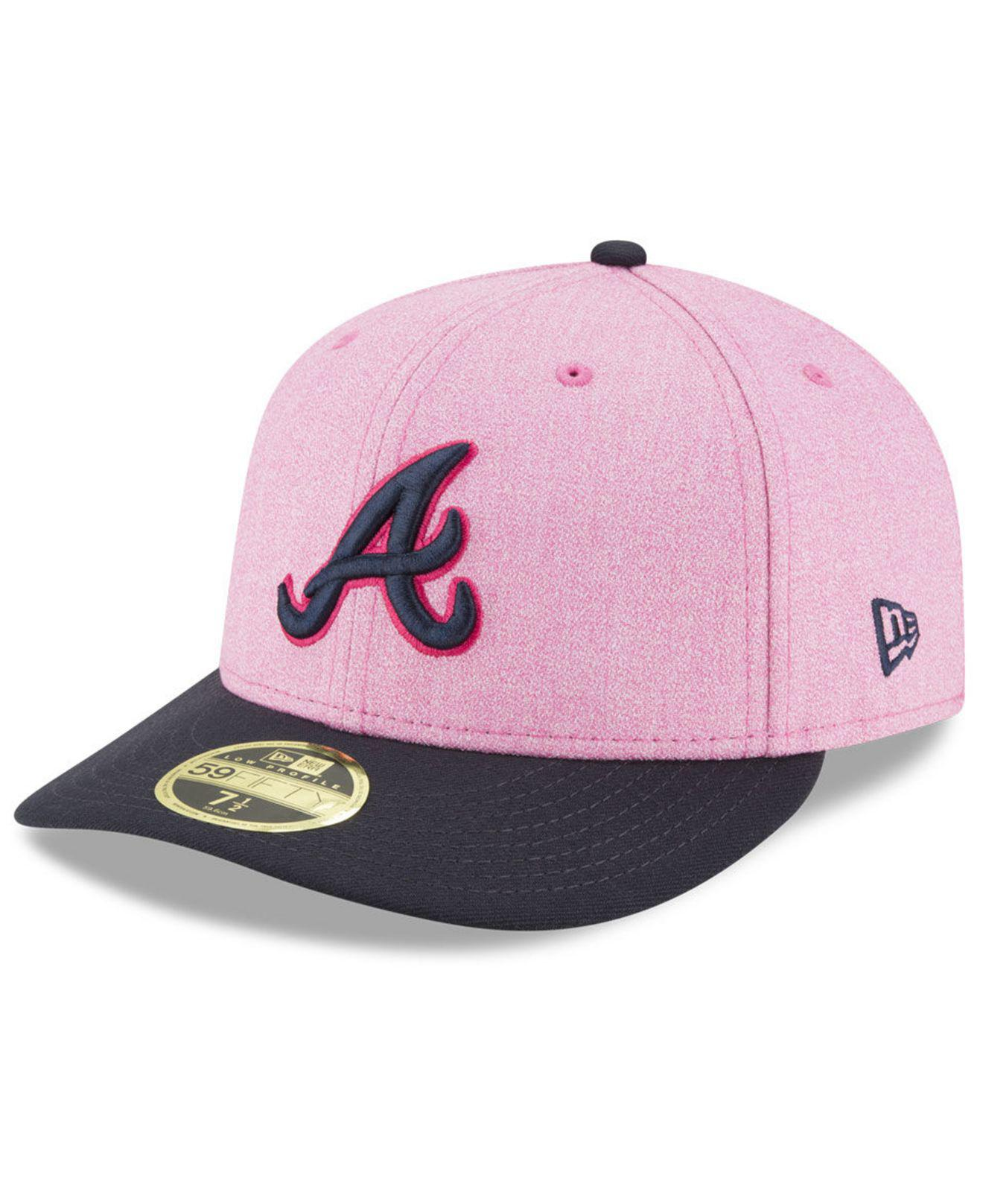 87bcfeb4a53 ... order lyst ktz atlanta braves mothers day low profile 59fifty fitted cap  06415 a12c8