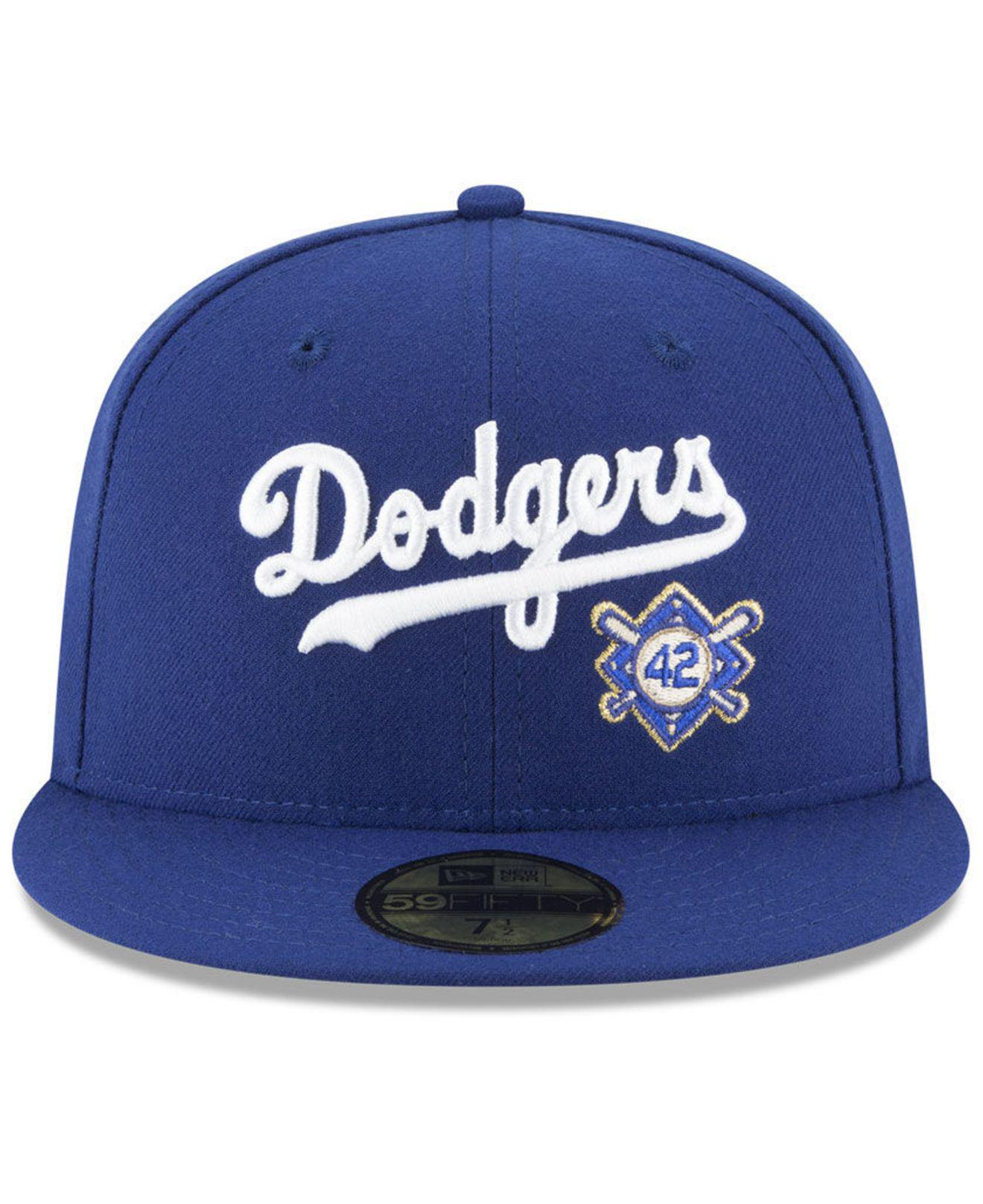 new arrivals fff39 80350 KTZ Brooklyn Dodgers Custom Jackie Robinson 59fifty Fitted Cap in Blue for  Men - Lyst