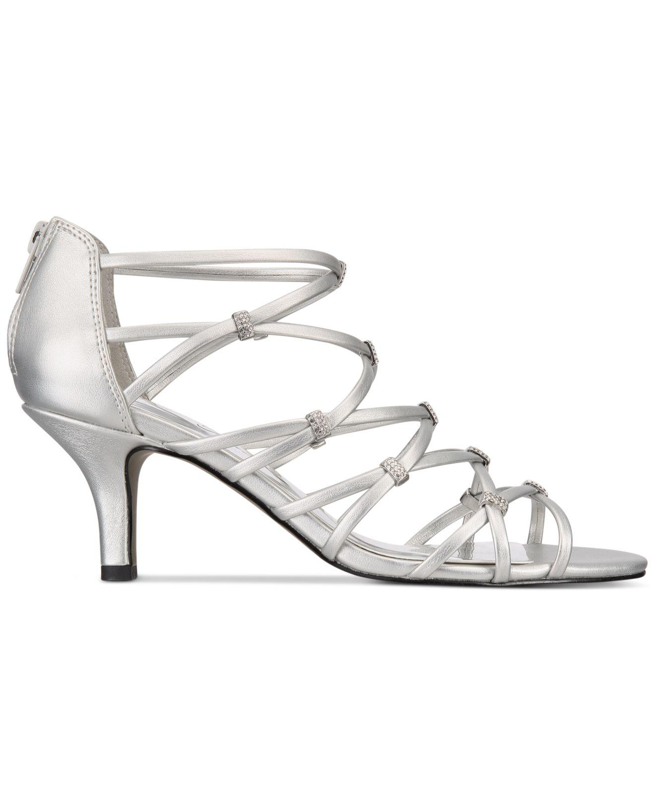 2e931fe3917 Easy Street Nightingale Evening Sandals in Metallic - Lyst