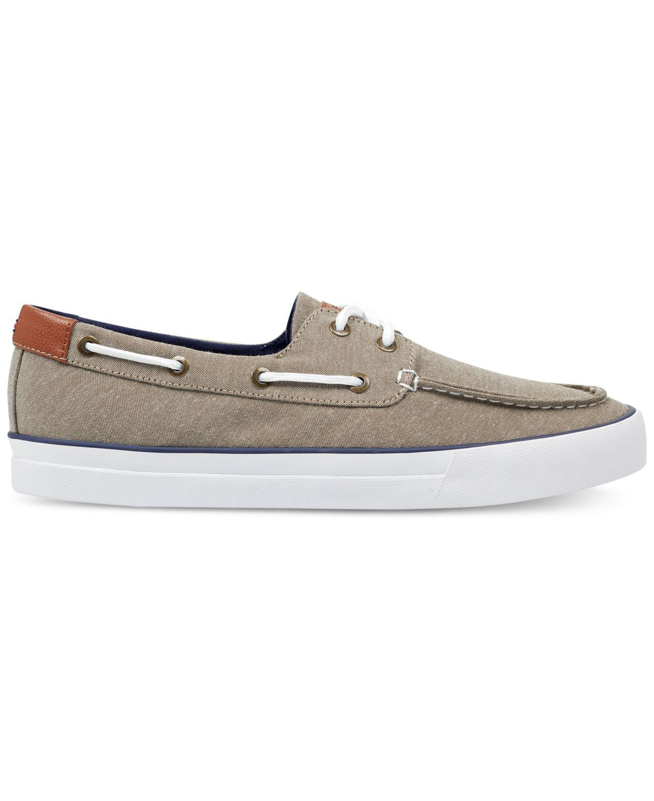 a3945d7ddd241c Lyst - Tommy Hilfiger Petes Boat Shoes in Natural for Men
