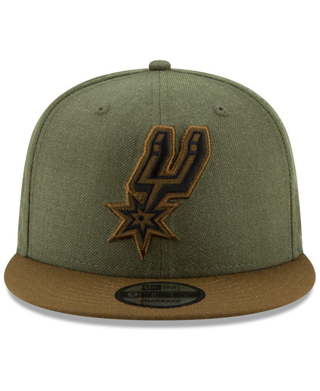 brand new 4343d bc7e0 ... czech lyst ktz san antonio spurs enlisted 9fifty snapback cap in green  for men 2b630 fbc1f