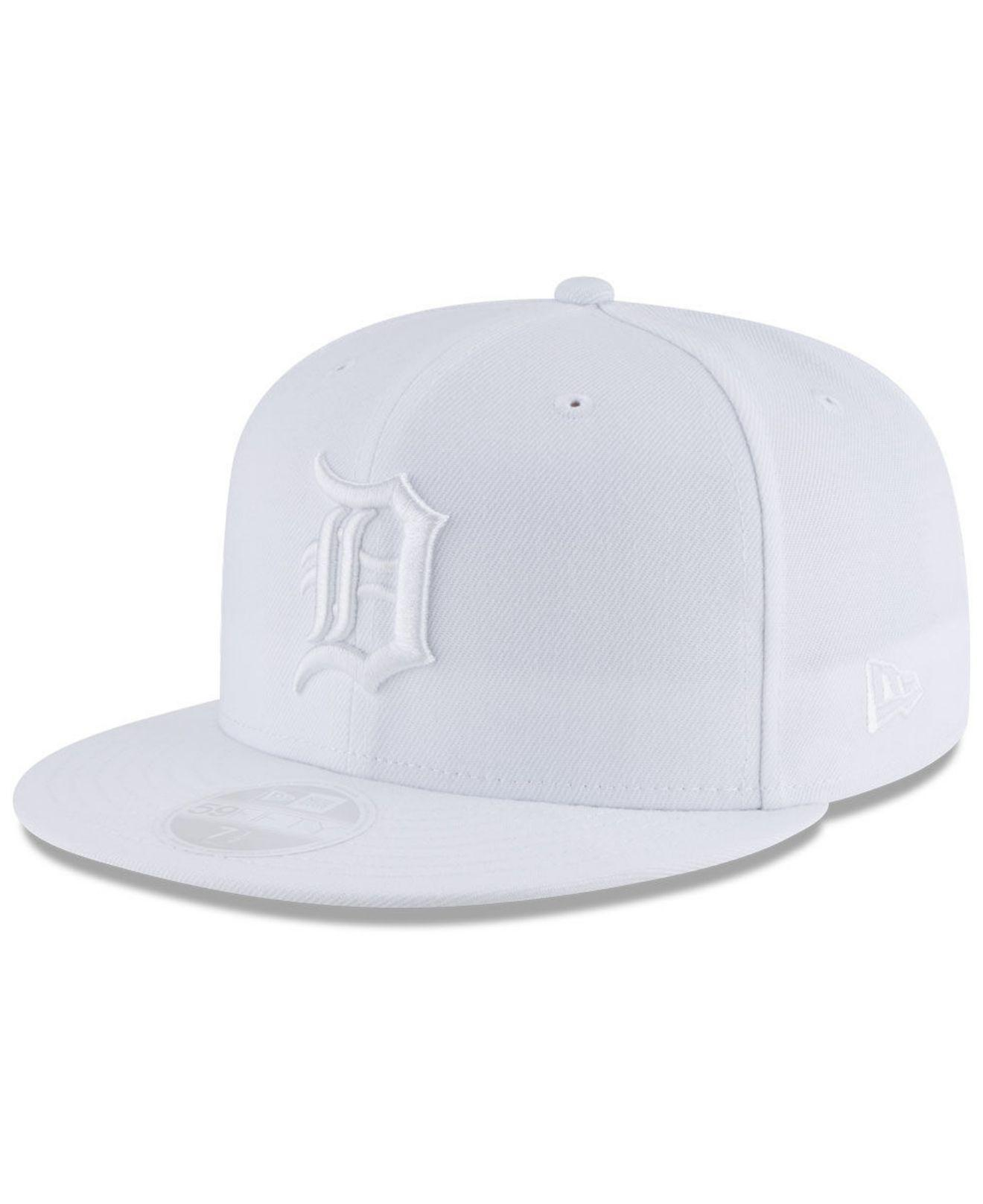 huge discount 89d61 d1f3d KTZ. Men s Detroit Tigers White Out 59fifty Fitted Cap