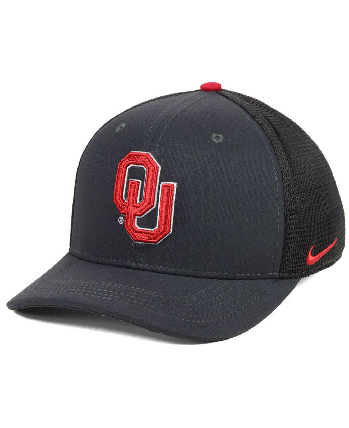buy online 68718 70258 ... 50% off lyst nike oklahoma sooners col aro swooshflex stretch fitted cap  c4d59 d9599