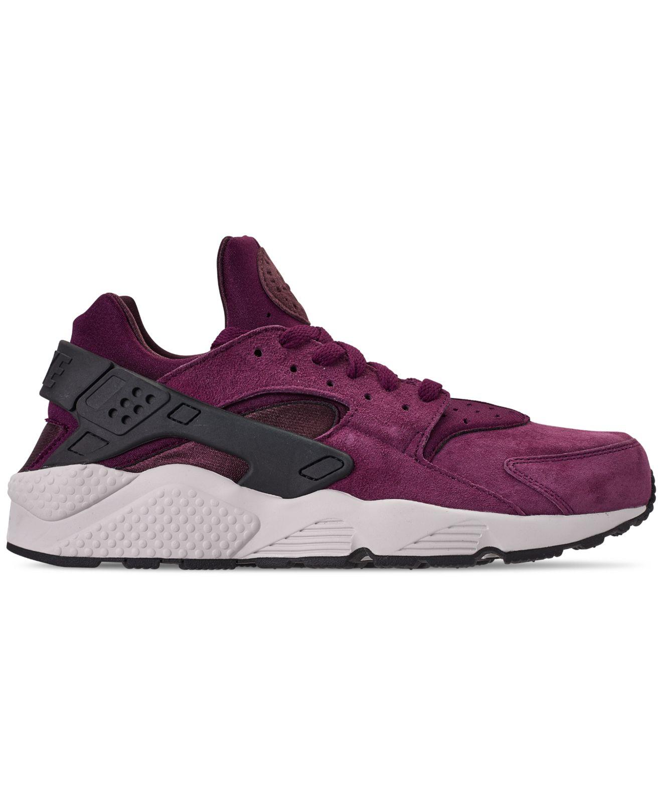 a9a0b7b7bc4b6 Lyst - Nike Air Huarache Run Premium Running Sneakers From Finish Line in  Purple for Men