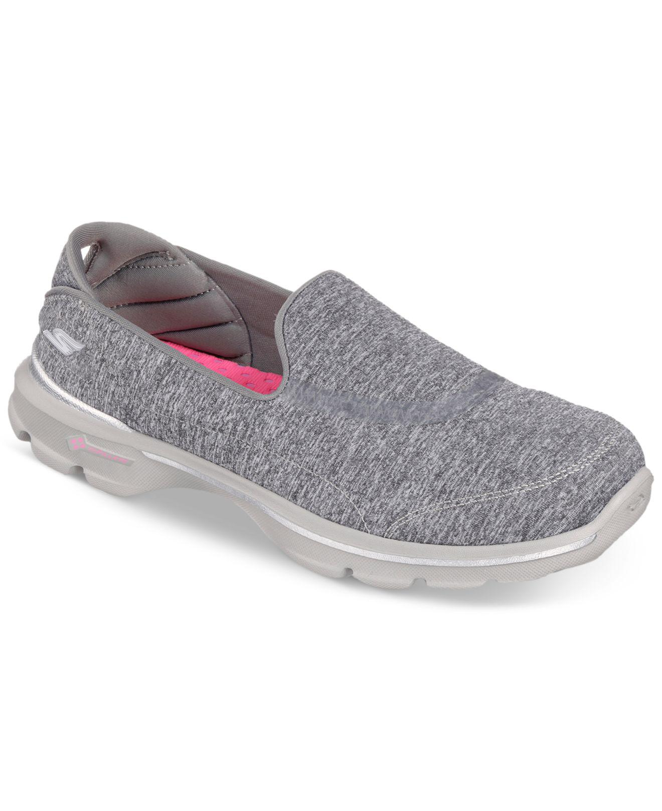 Skechers Go Walk 3 Balance, Women's Low Top Sneakers Grey