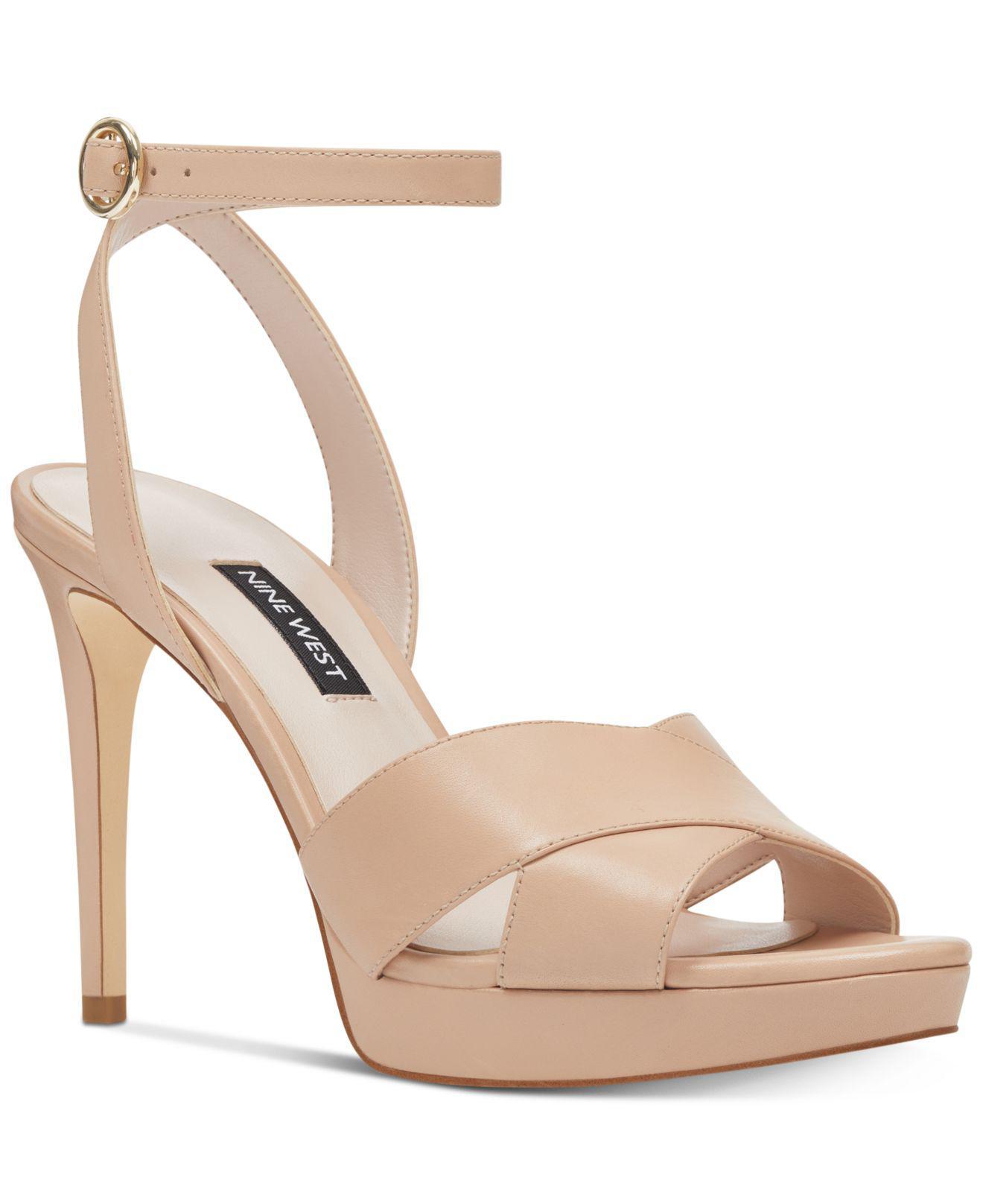 218673e12e6 Nine West - Natural Quisha Platform Sandals - Lyst. View fullscreen