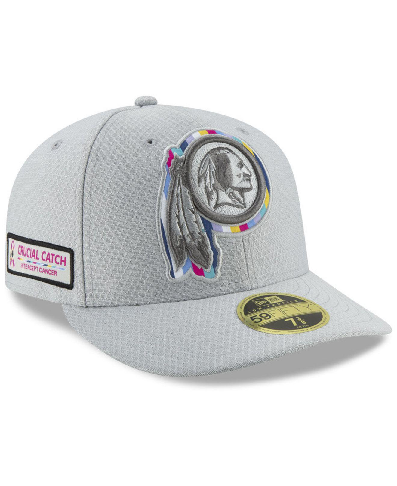 new product 078c0 06941 KTZ Washington Redskins Crucial Catch Low Profile 59fifty Fitted Cap ...