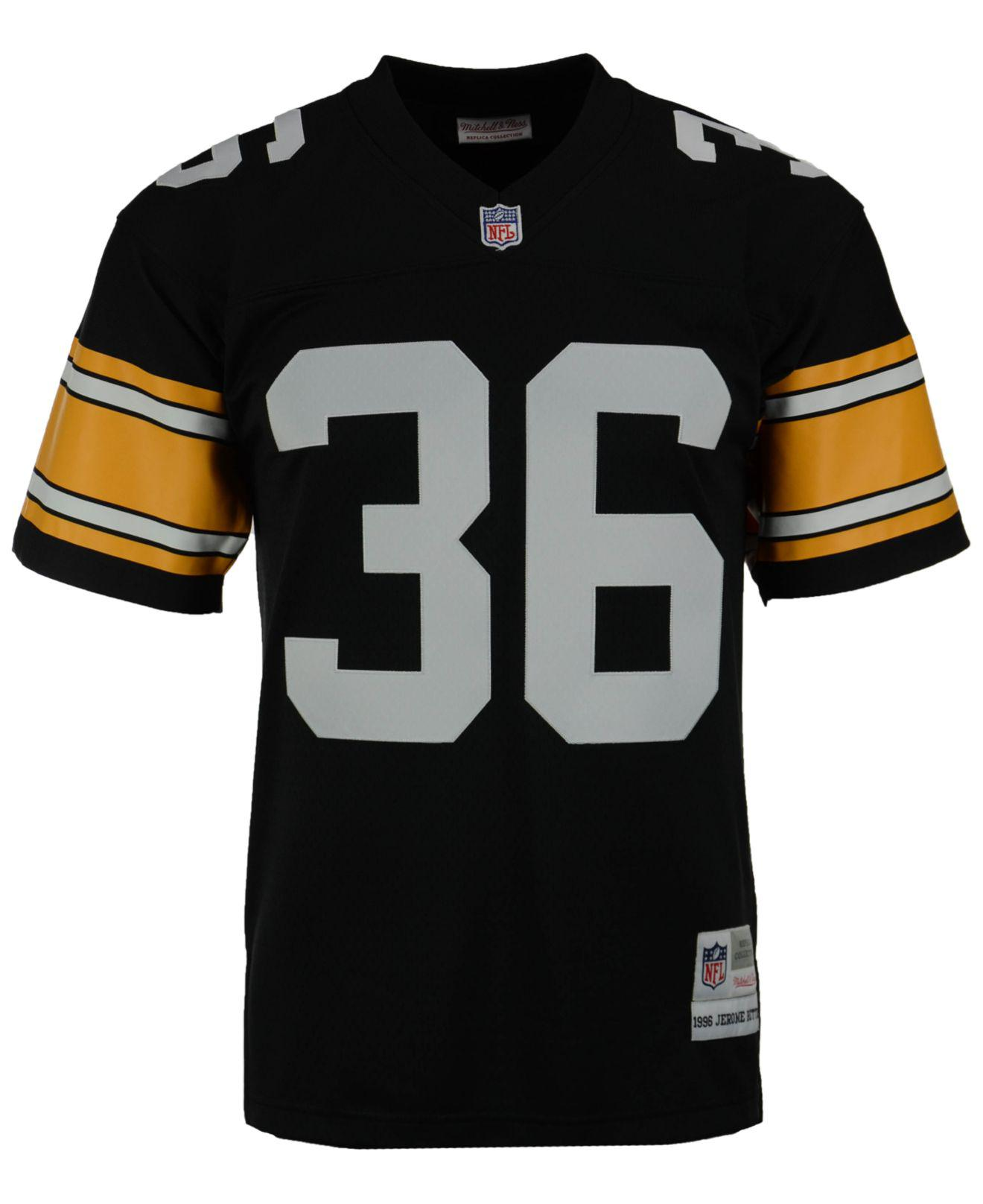 1ed1768a903 Mitchell   Ness Men s Jerome Bettis Pittsburgh Steelers Replica Throwback  Jersey in Black for Men - Lyst