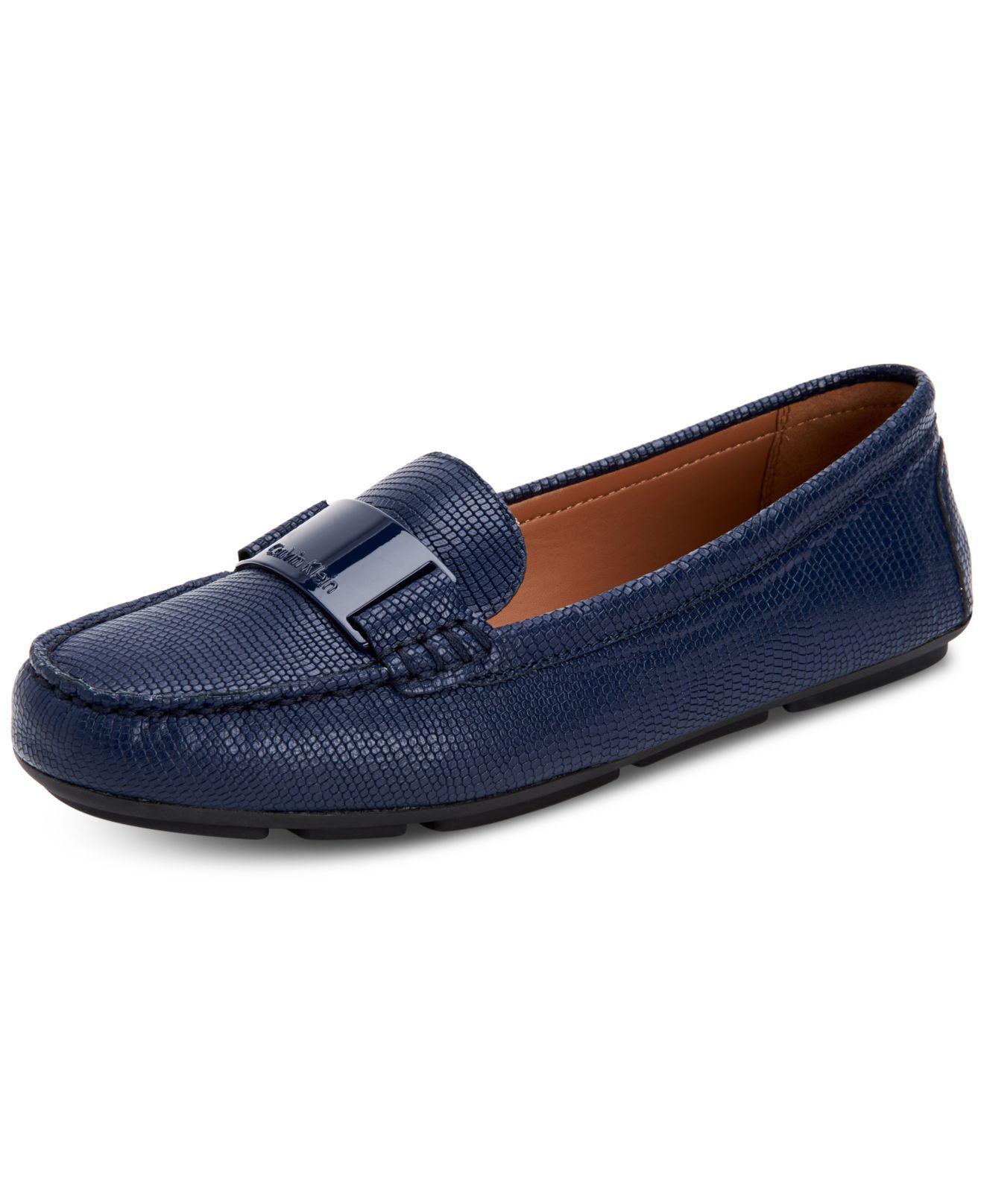 971c37038cb Lyst - Calvin Klein Lisette Flats in Blue
