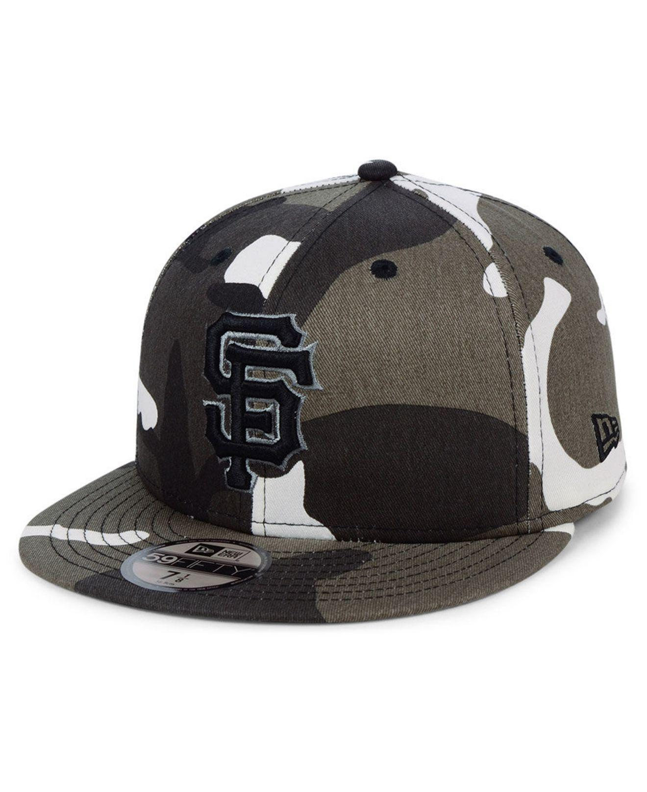 new style 4dc37 ab92e KTZ San Francisco Giants Fall Prism Pack 59fifty-fitted Cap in Black ...