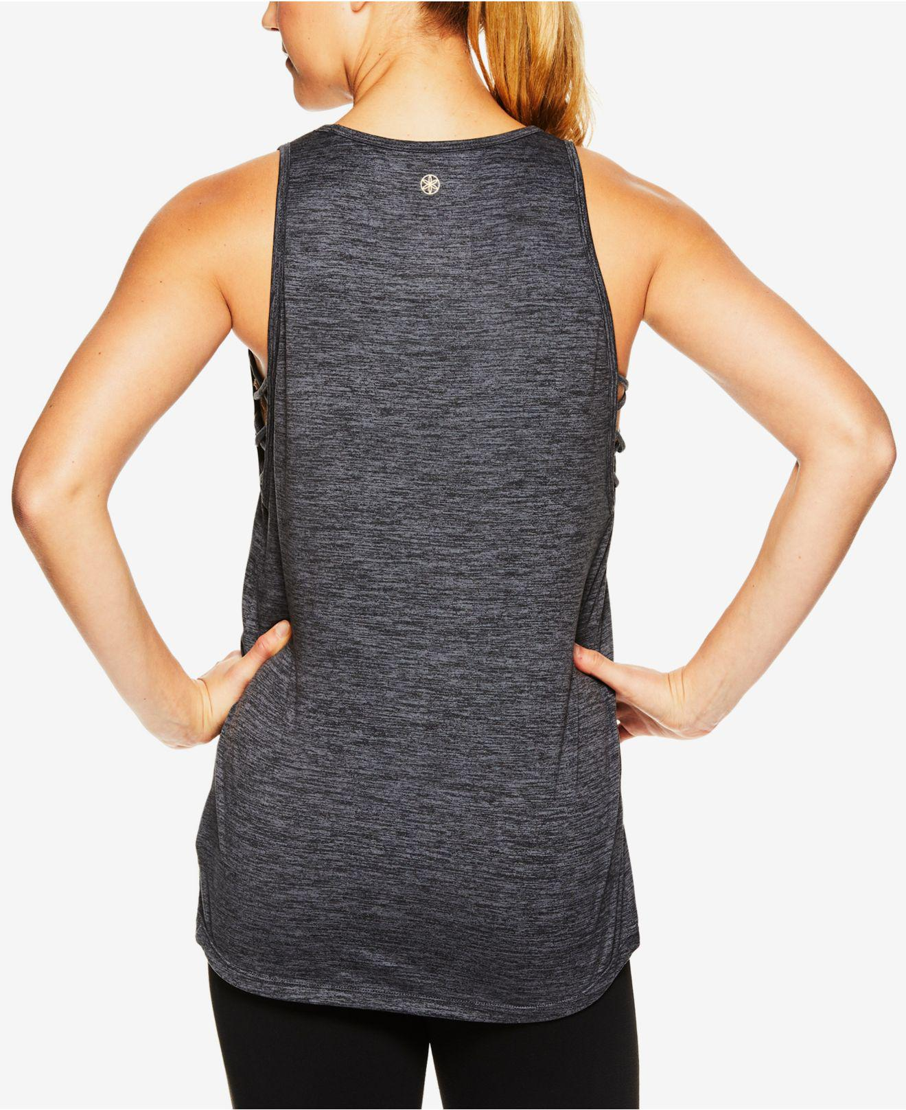aa7d15cdaf Lyst - Gaiam Sadie Strappy-side Tank Top in Black
