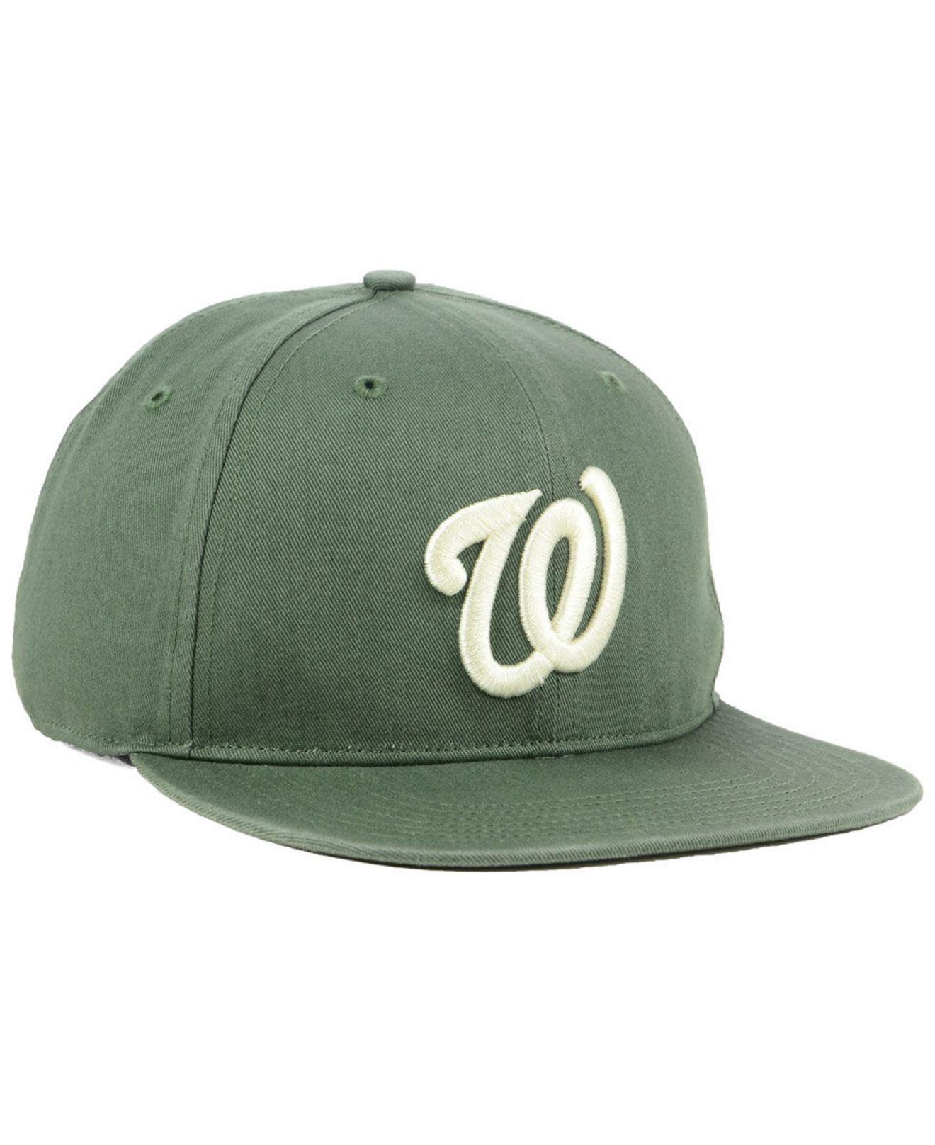 best website 8fdd4 51a2d ... promo code for 47 brand green washington nationals moss snapback cap  for men lyst. view